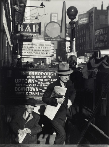 Lou Stoumen - Times Square In The Rain; Going To Work, Times Square, New York City-1940