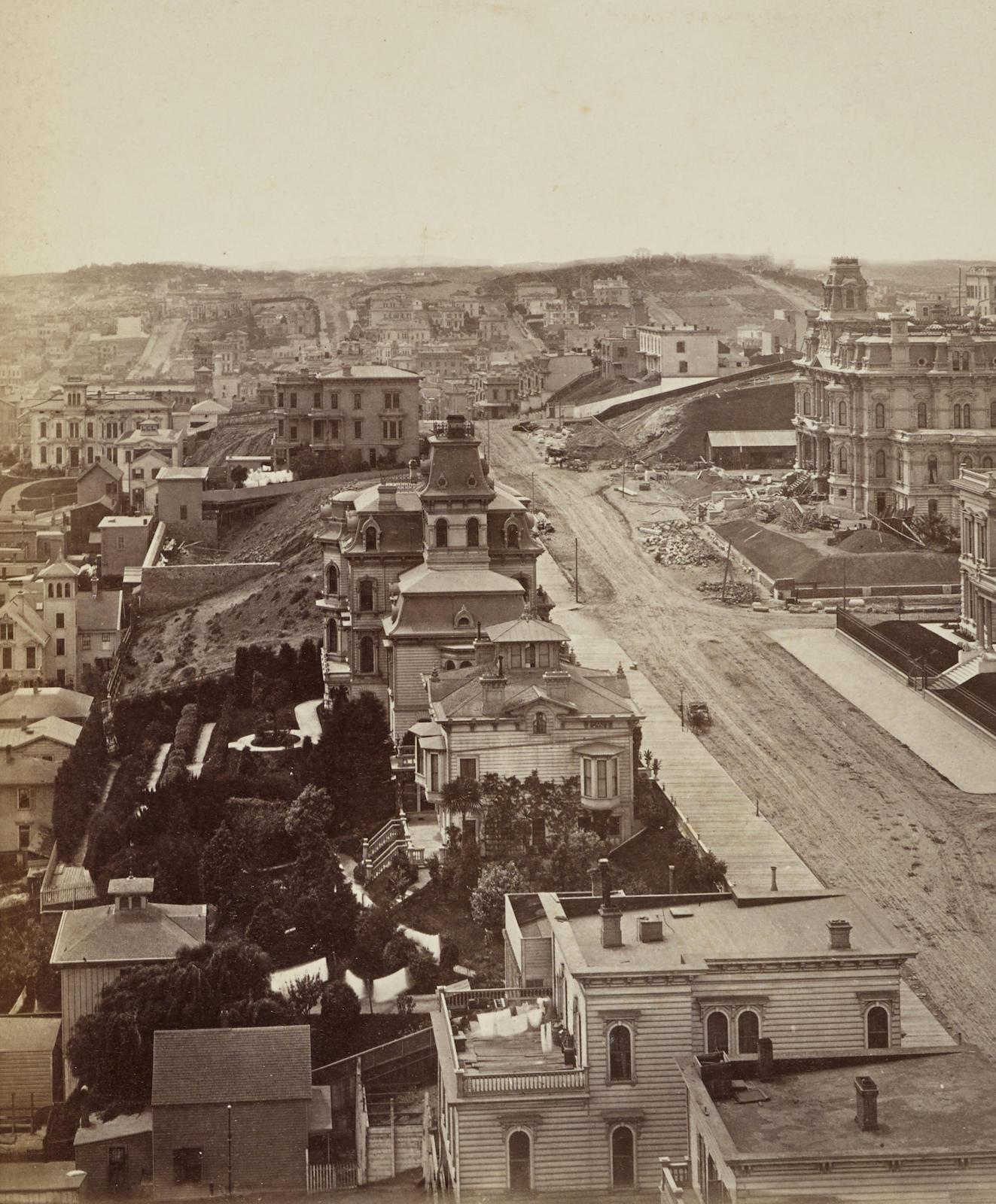 Eadweard Muybridge-Panorama Of San Francisco From California St. Hill-1877