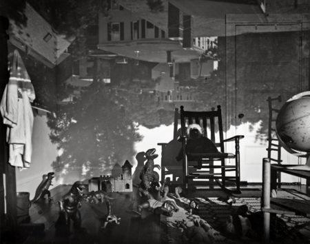 Abelardo  Morell - Camera Obscura Image Of Brookline View In Bradys Room-1992