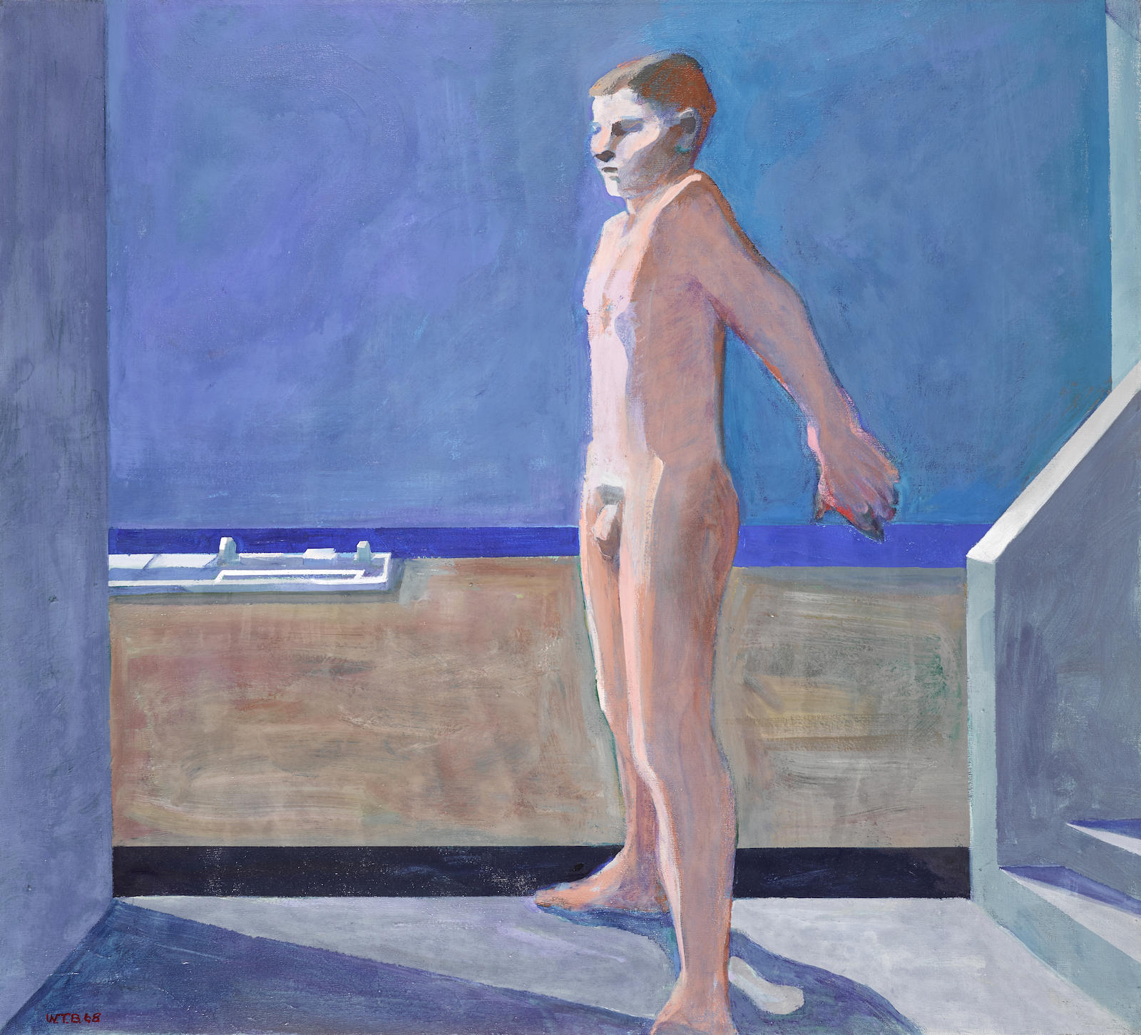 William Theophilus Brown-Boy On Balcony-1968