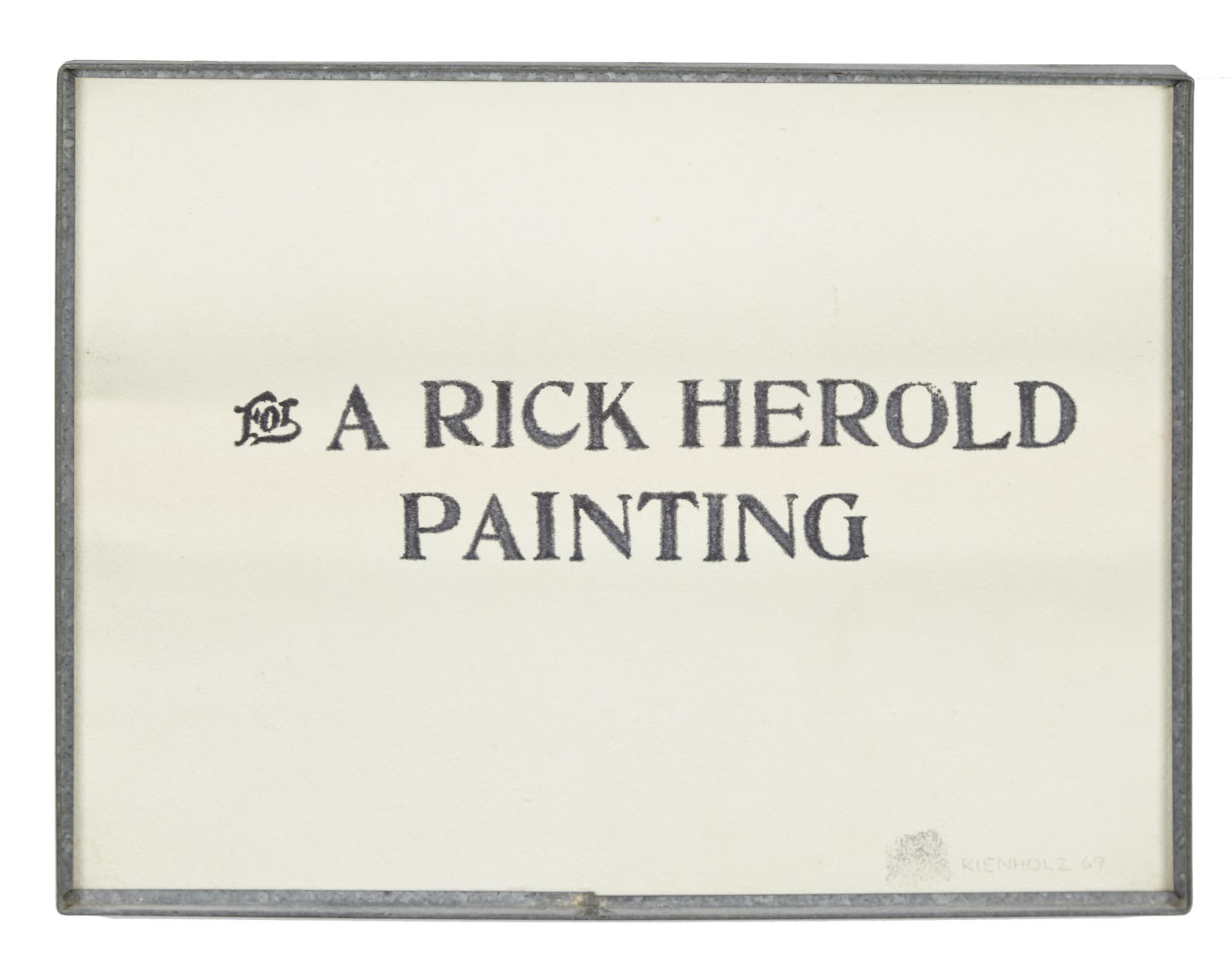 Edward Kienholz-For A Rick Herold Painting-1969