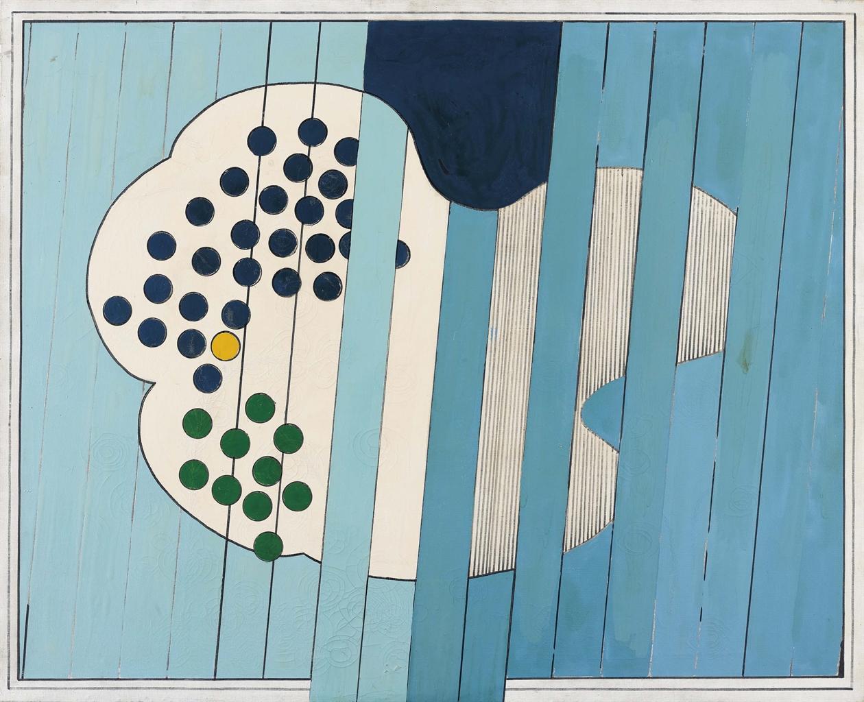 Tano Festa-La Grande Nuvola-1965