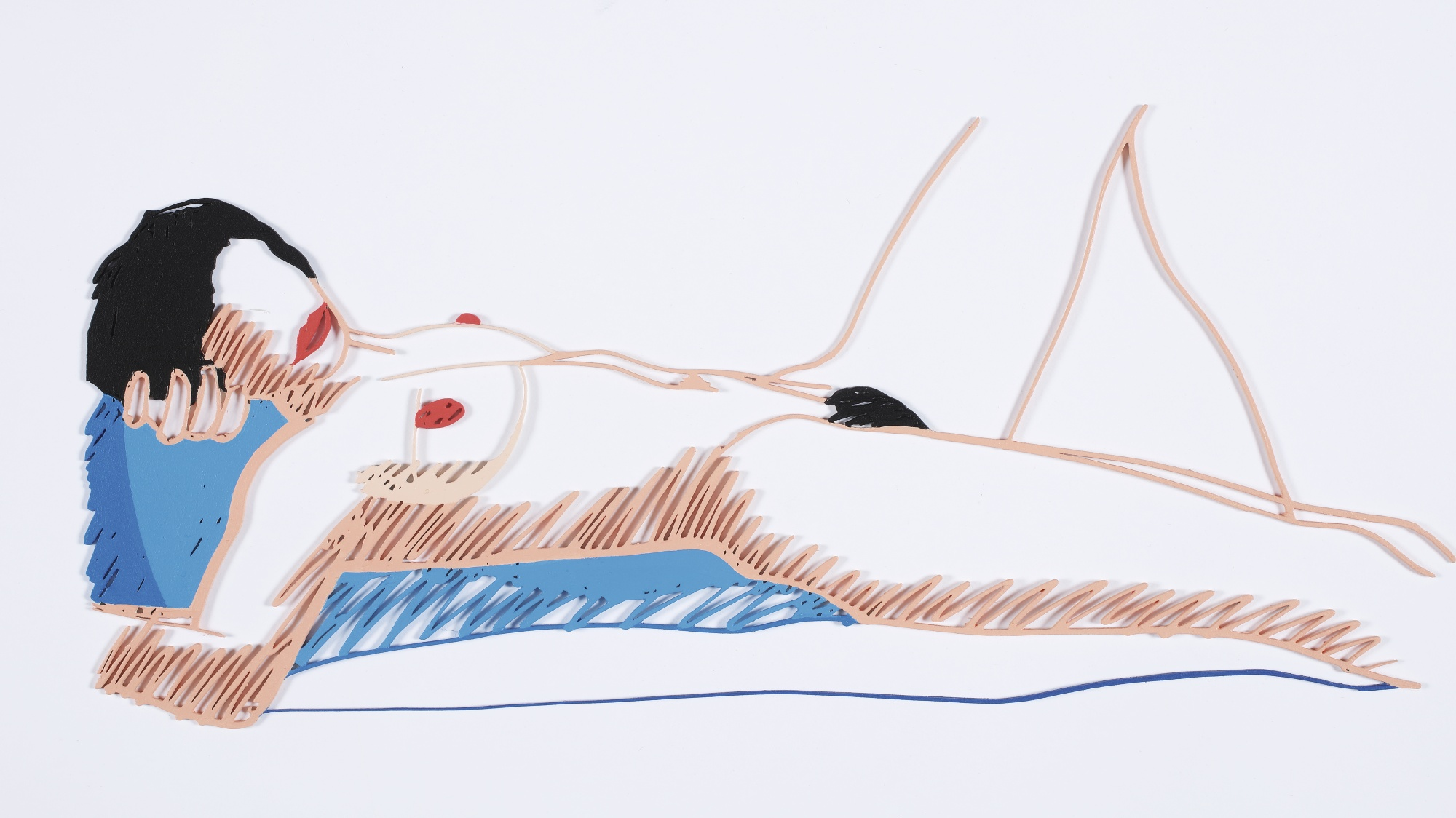Tom Wesselmann-Steel Drawing Edition/Monica Lying On Her Back-