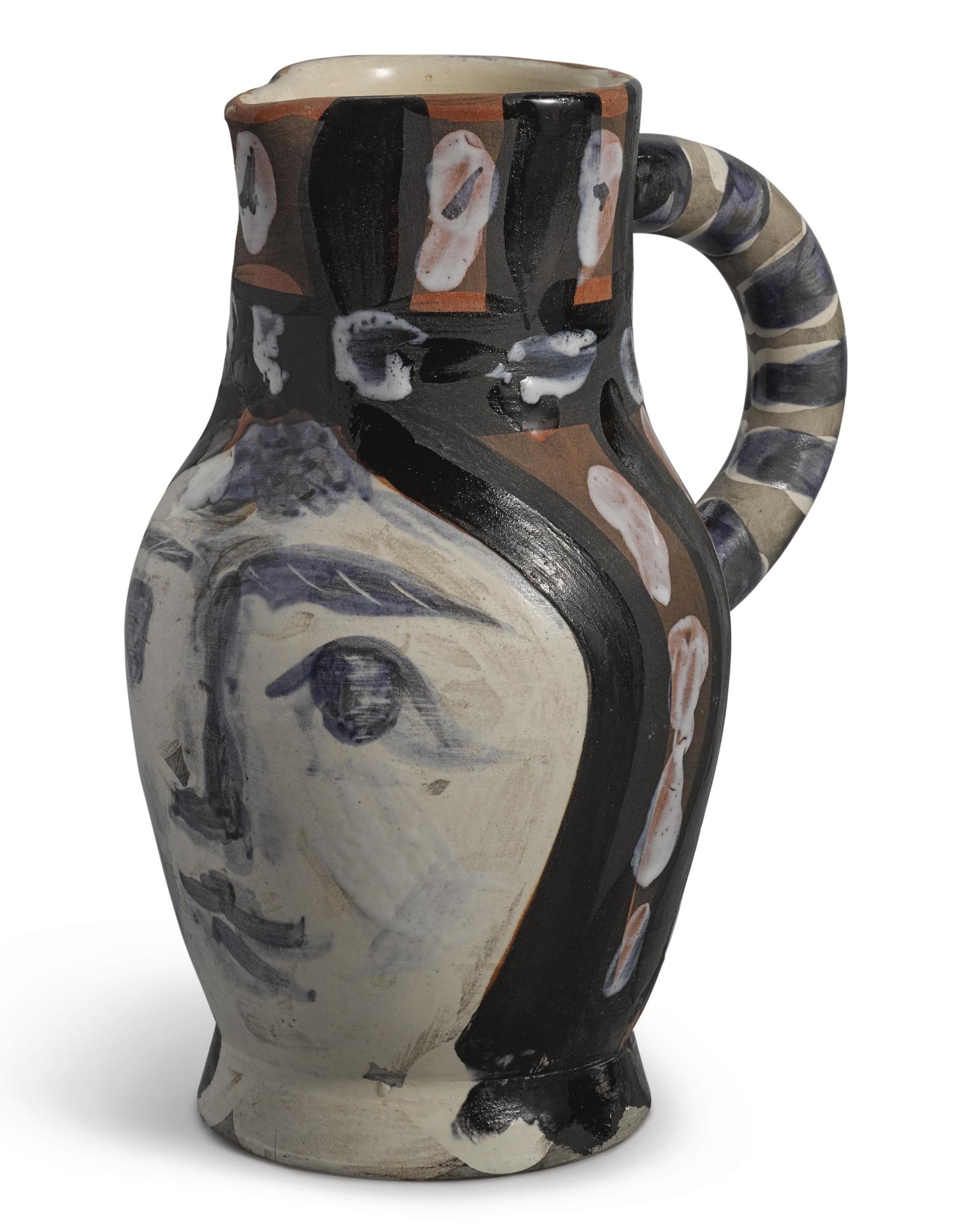 Pablo Picasso-Tete Peinte (A.R. 212)-1953
