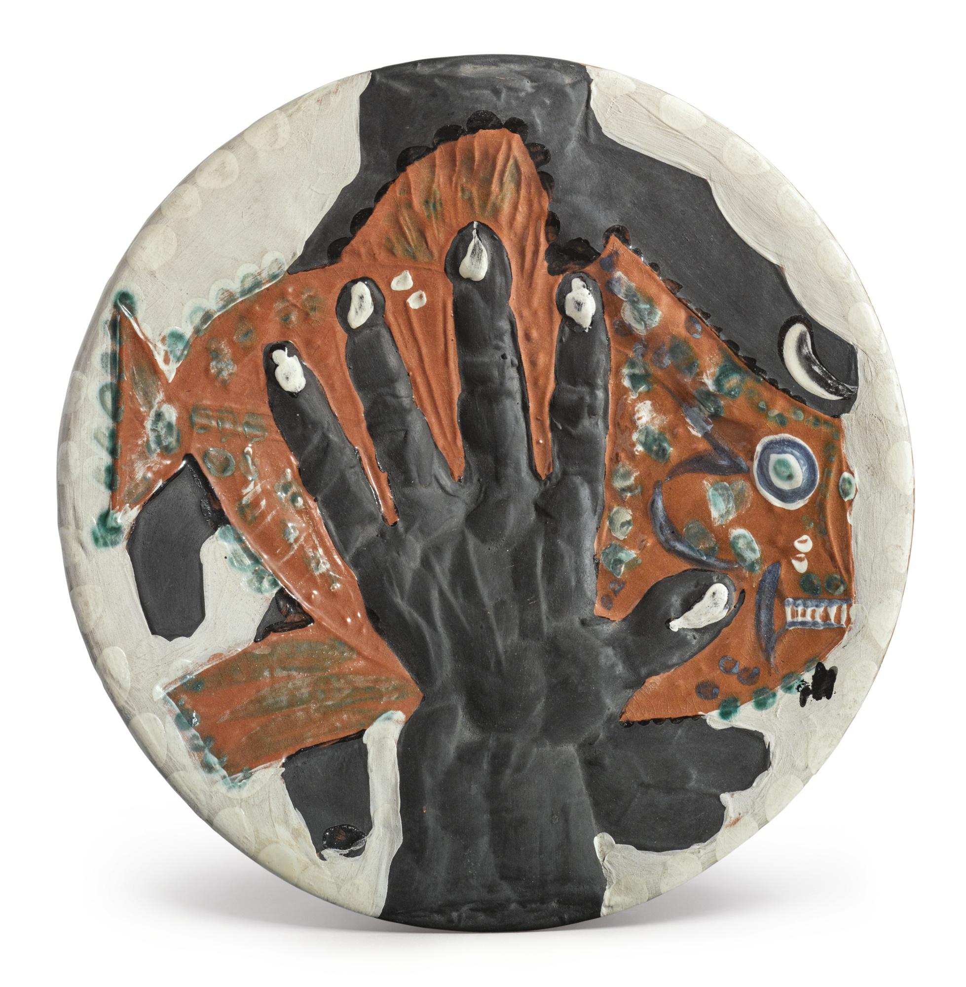 Pablo Picasso-Mains Au Poisson (A.R. 215)-1953