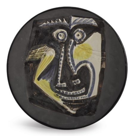 Pablo Picasso-Visage (A.R. 446)-1960