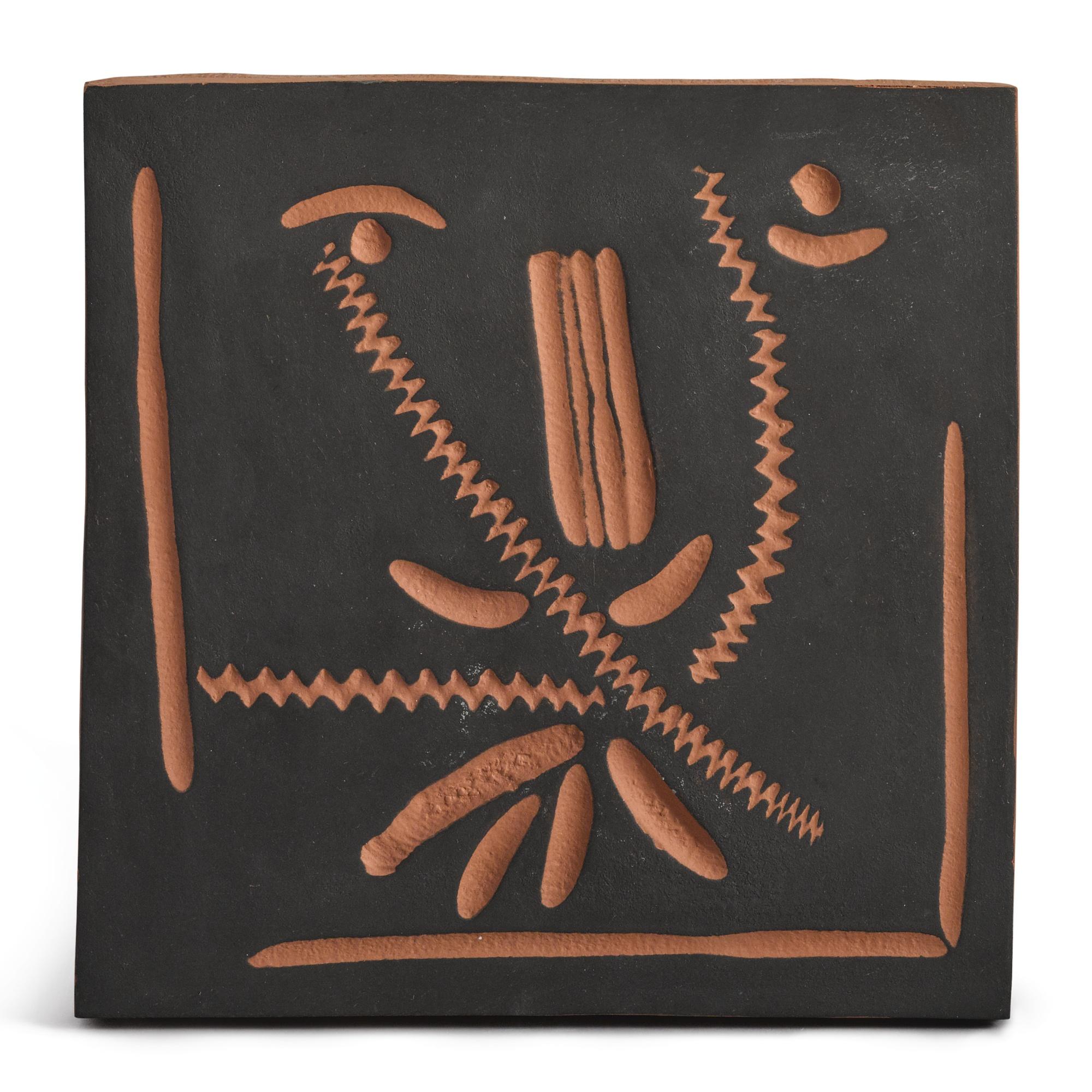 Pablo Picasso-Visage Au Nez Vert (A.R. 586)-1968