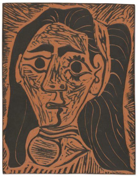 Pablo Picasso-Femme Aux Cheveux Flous (A.R. 520)-1964