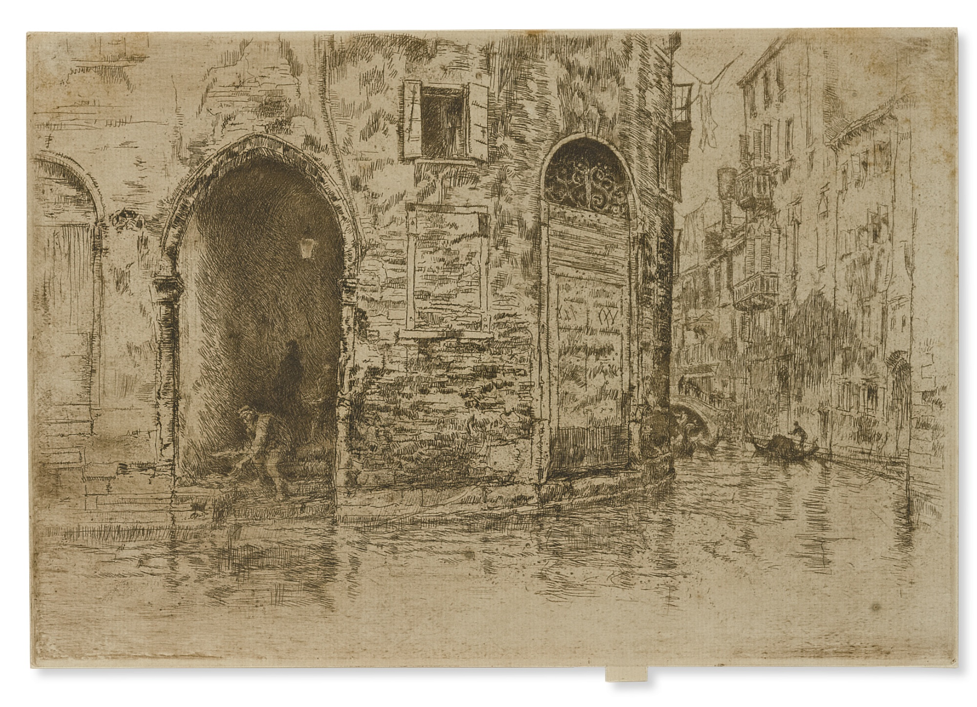 James Abbott McNeill Whistler-Two Doorways (K. 193; G. 221)-1880