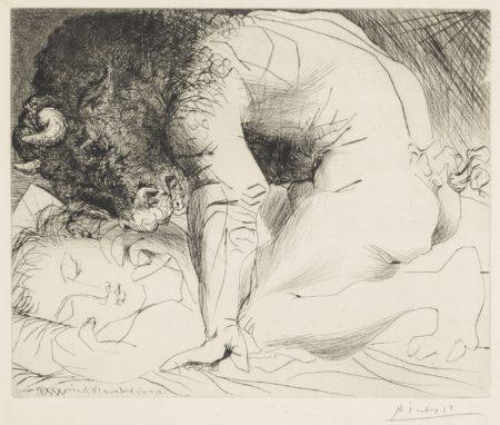 Pablo Picasso-Minotaure Caressant Du Mufle La Main Dune Dormeuse (B. 201; Ba. 369)-1933
