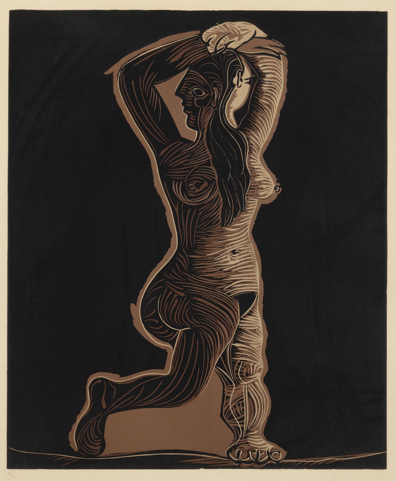 Pablo Picasso-Grand Nu Dansant (Grand Nu Du Femme) (B. 1085; Ba. 1309)-1962