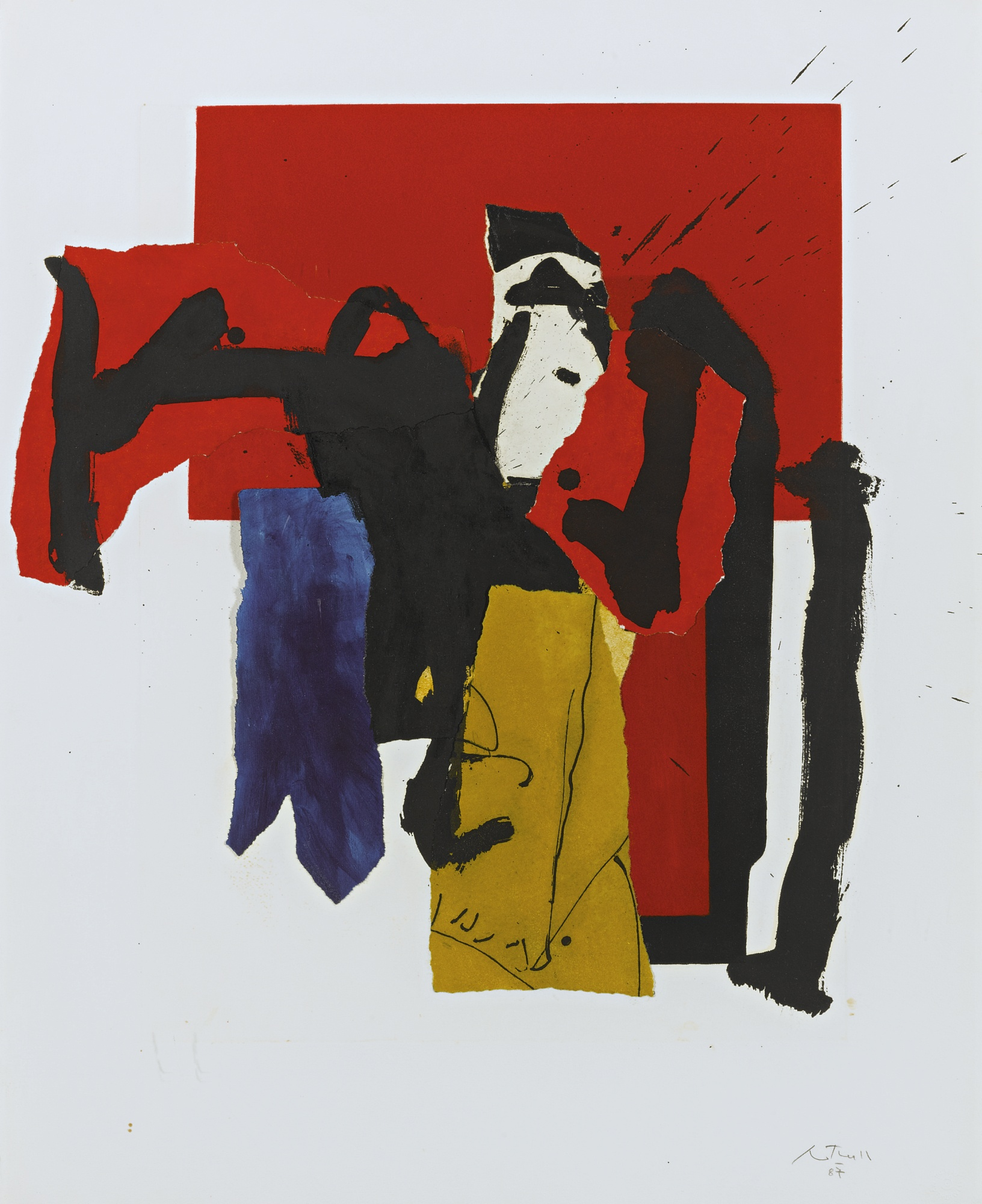 Robert Motherwell-The Red And Black-1988
