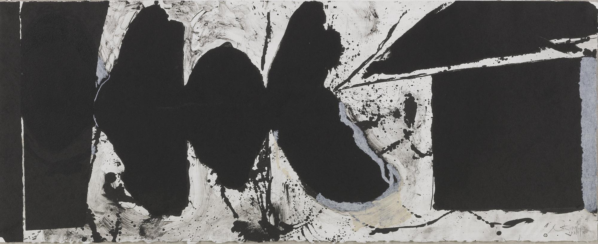 Robert Motherwell-Elegy Black Black (W.A.C. 309)-1983