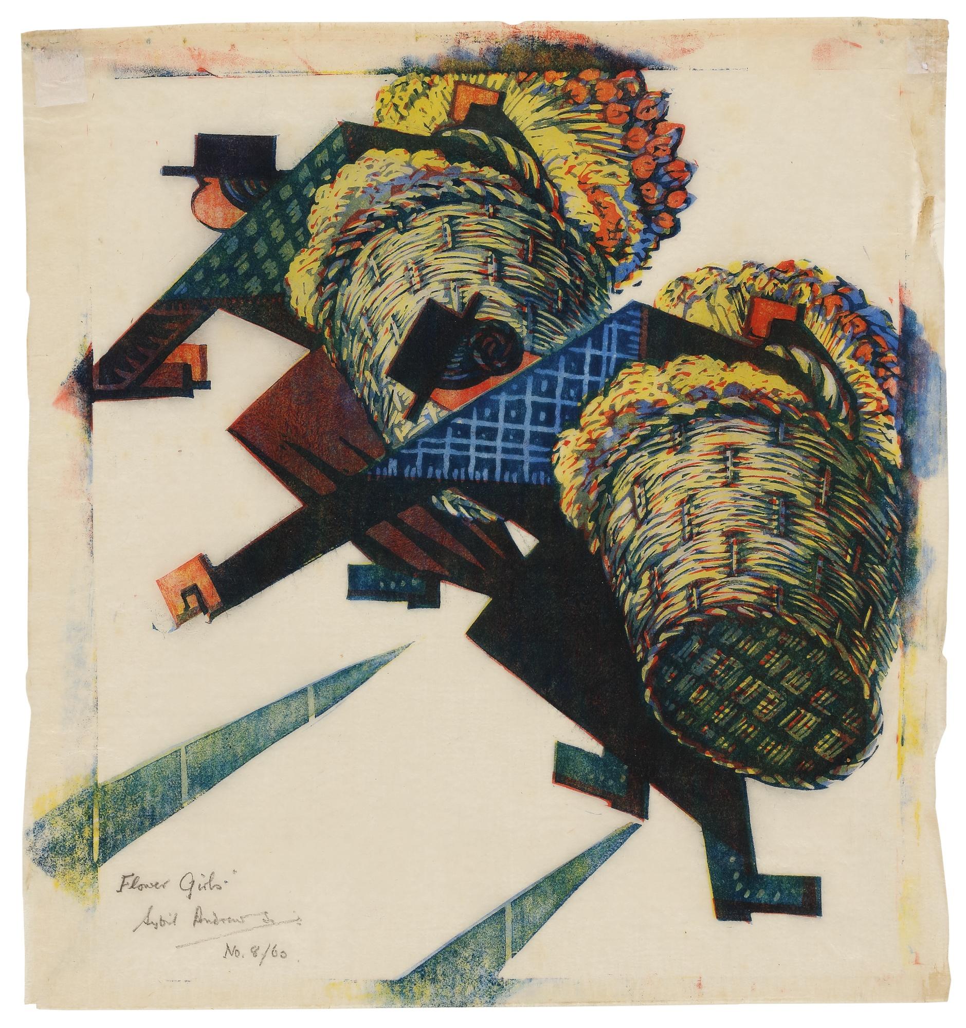 Sybil Andrews-Flower Girls (C. Sa 28)-1934