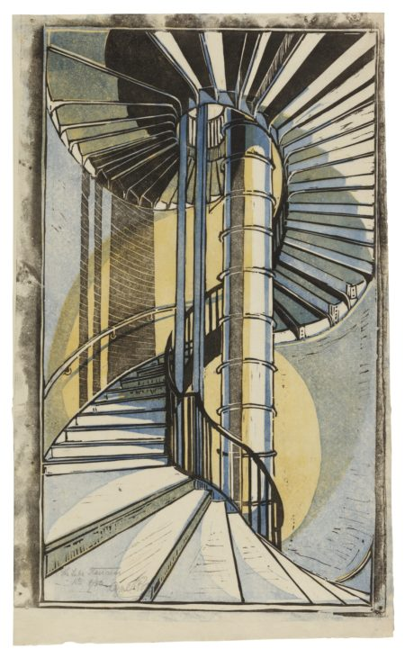Cyril Edward Power-The Tube Staircase (C. Cep 11)-1929