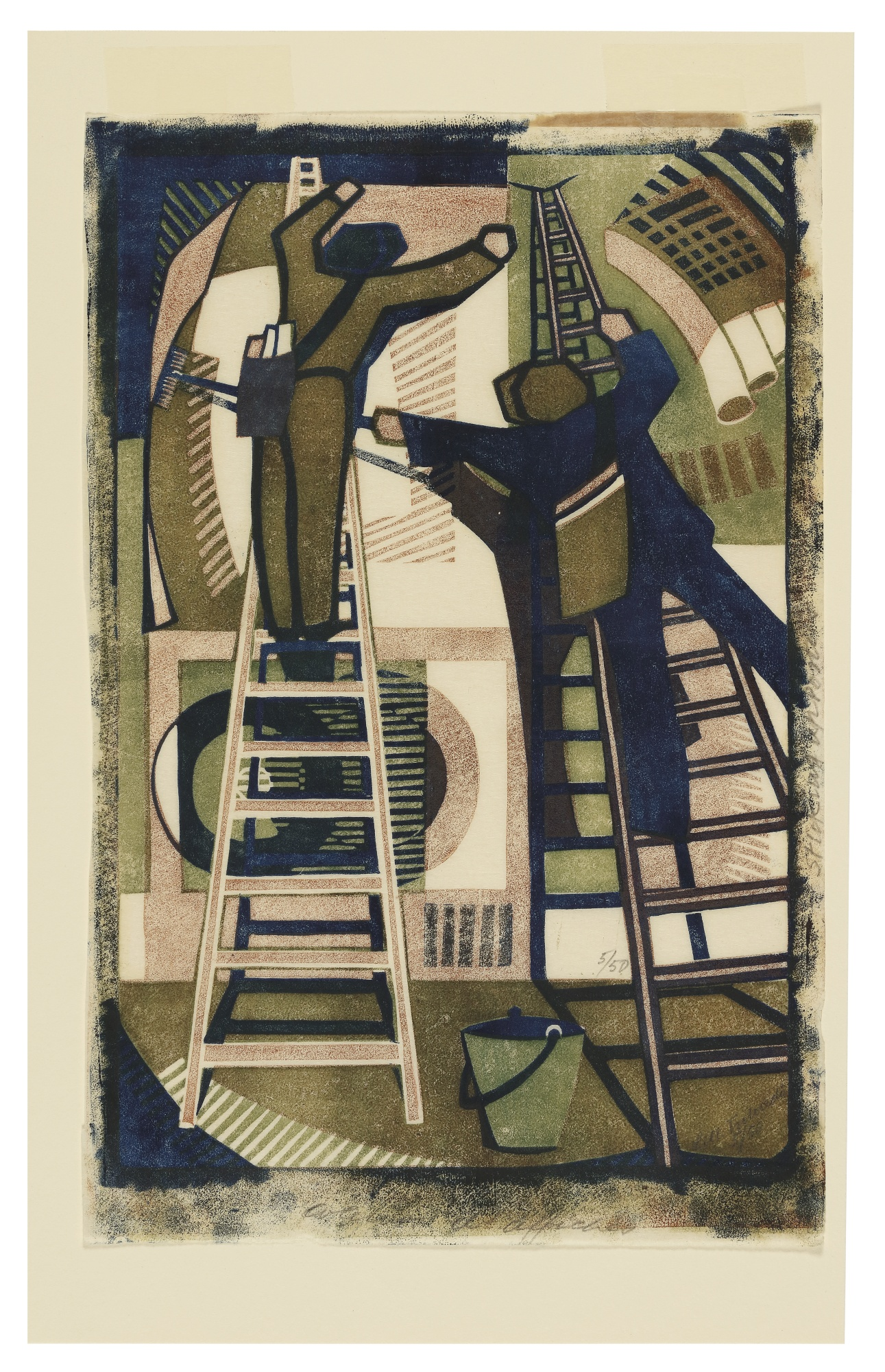 Lill Tschudi-Sticking Up Posters (C. Lt 33)-1933