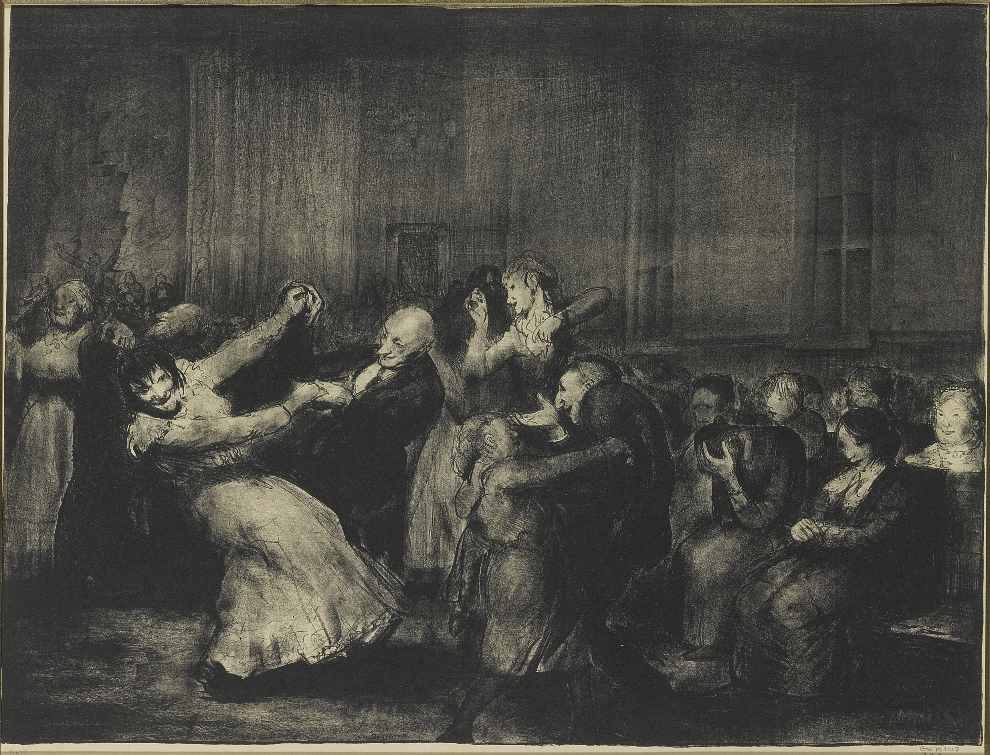 George Bellows-Dance In A Madhouse (Mason 49)-1917