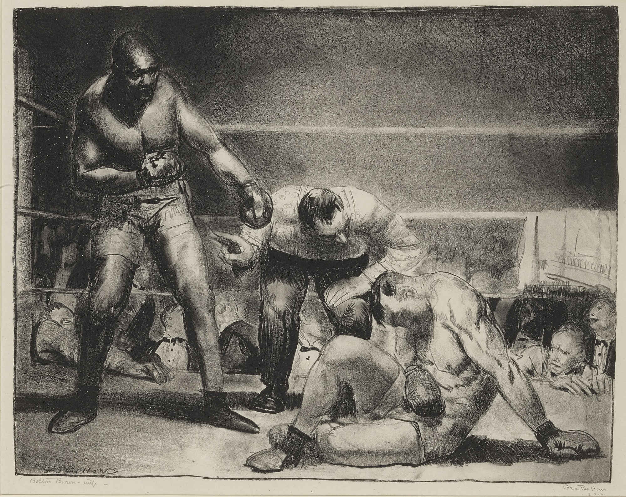 George Bellows-George Wesley Bellows - The White Hope (M. 96)-1921