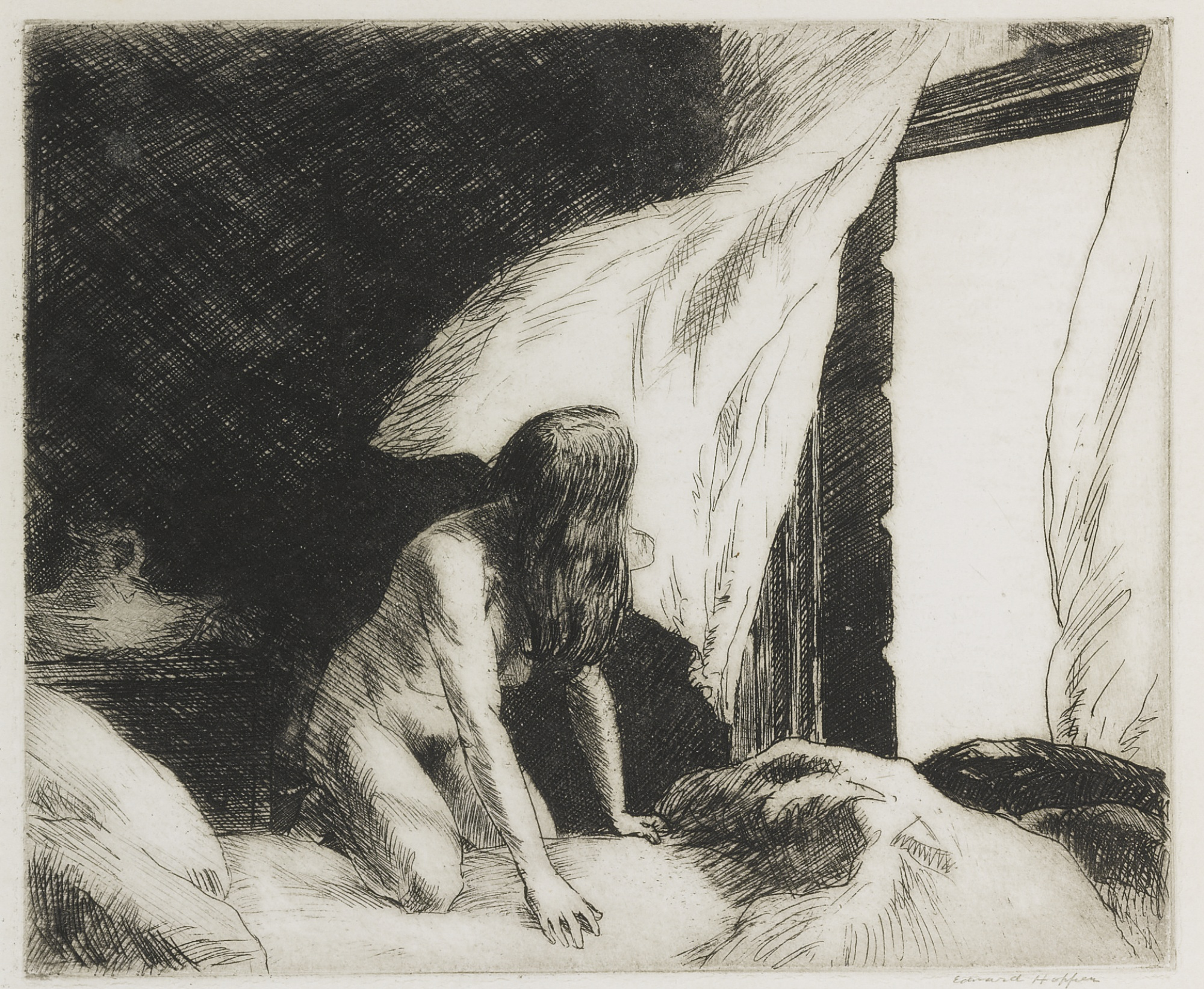 Edward Hopper-The Evening Wind (L. 77; Z. 9)-1921