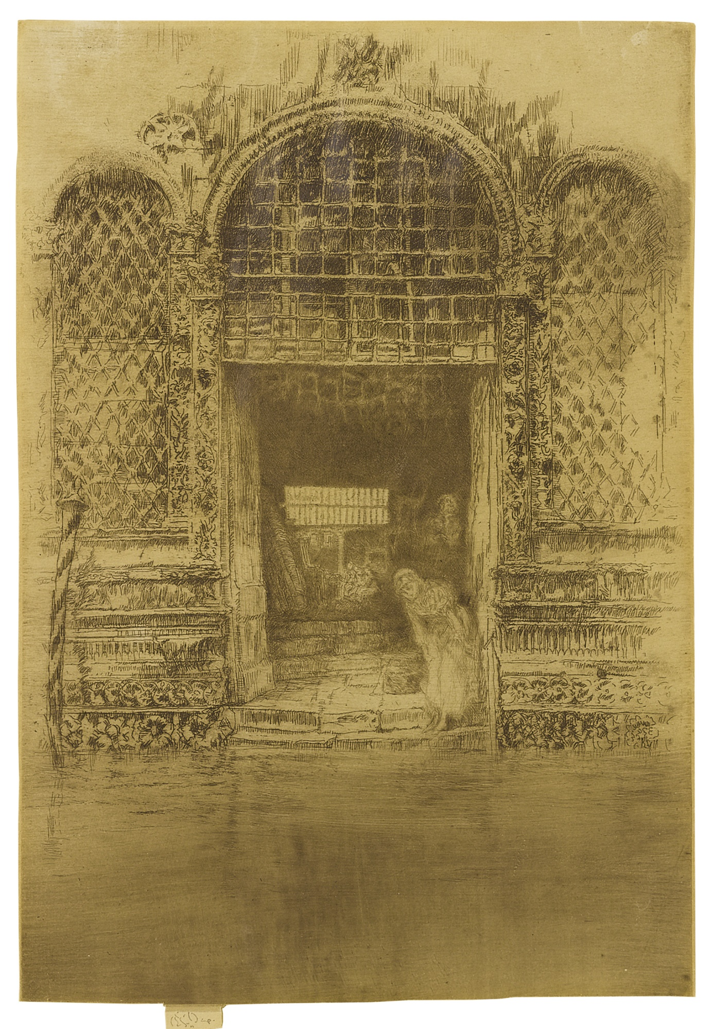 James Mcneill Whistler - The Doorway (Kennedy 188; Glasgow 193)-1880