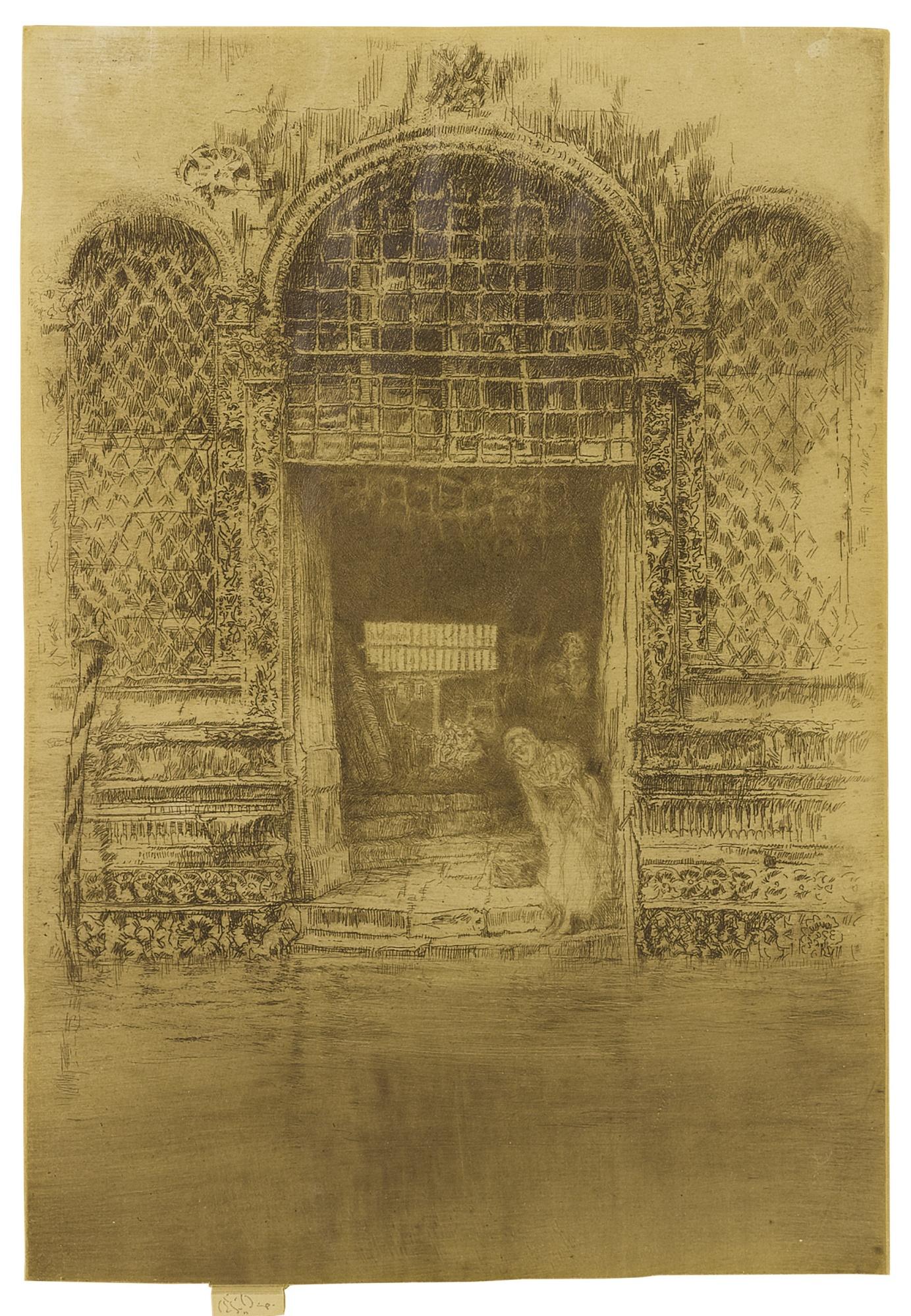 James Abbott McNeill Whistler-The Doorway (Kennedy 188; Glasgow 193)-1880