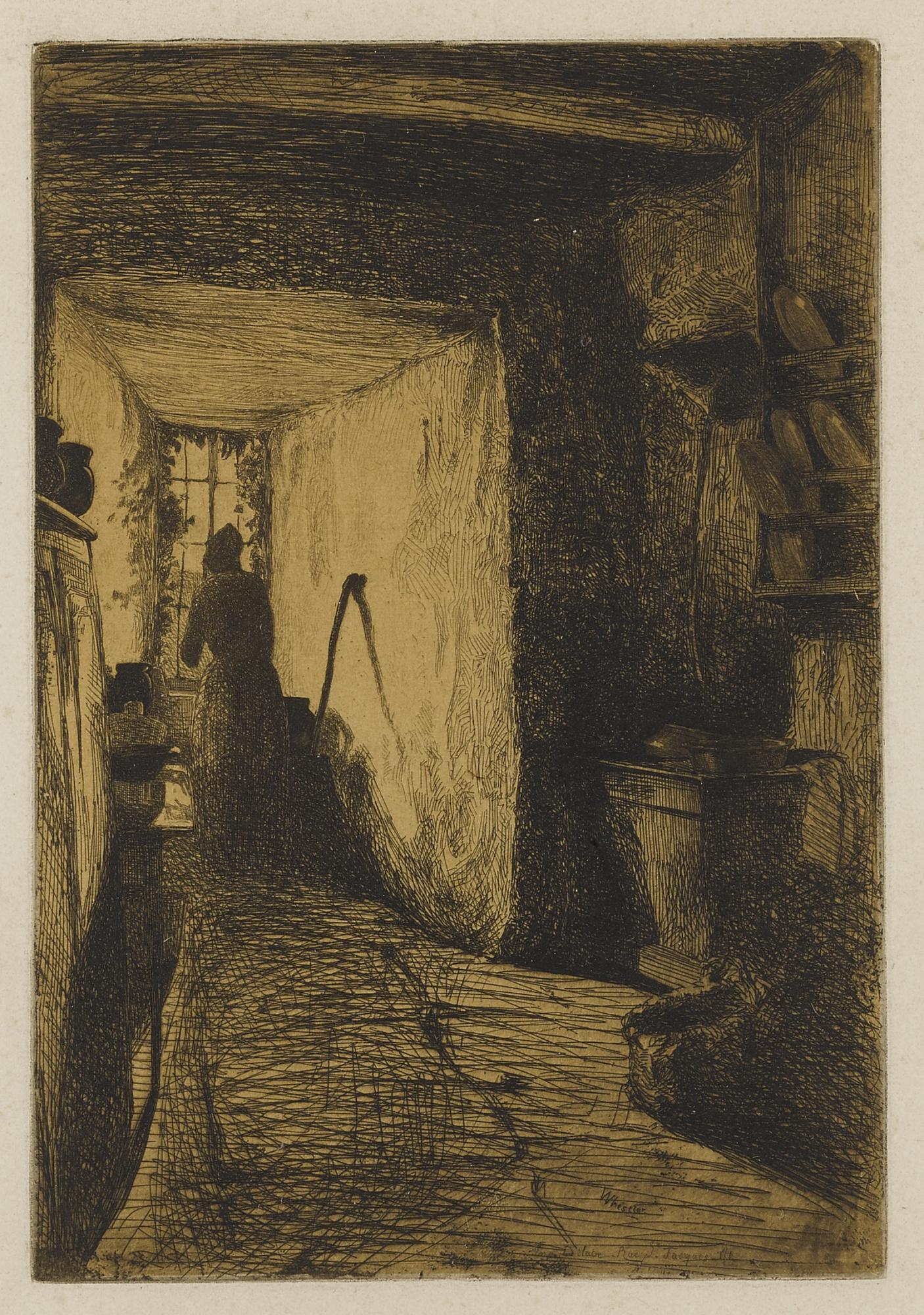 James Abbott McNeill Whistler-The Kitchen (K. 24; G. 16)-1858