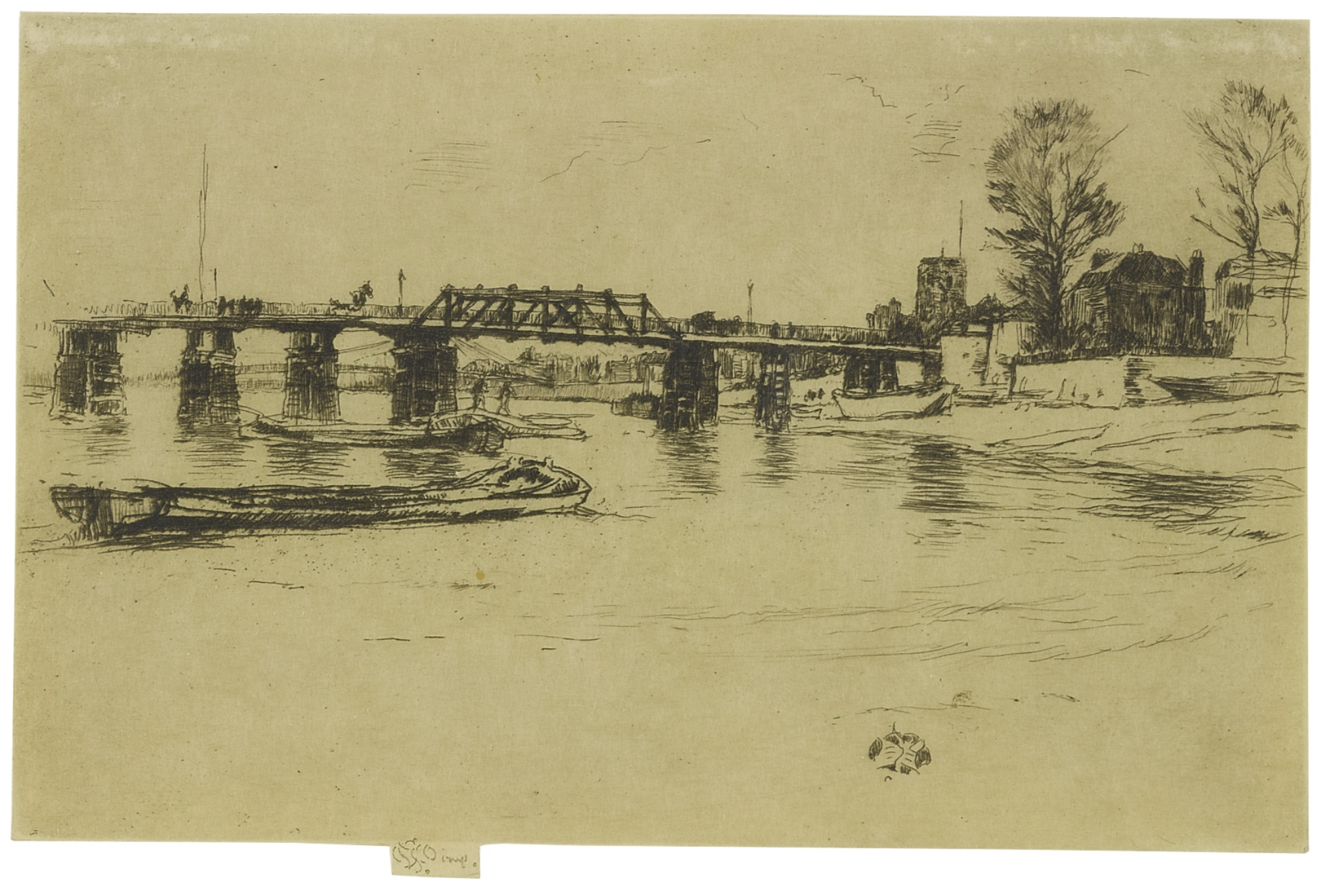 James Mcneill Whistler - Free Trade Wharf And Fulham: Two Prints (K. 163, 182; G. 171, 181)-1879