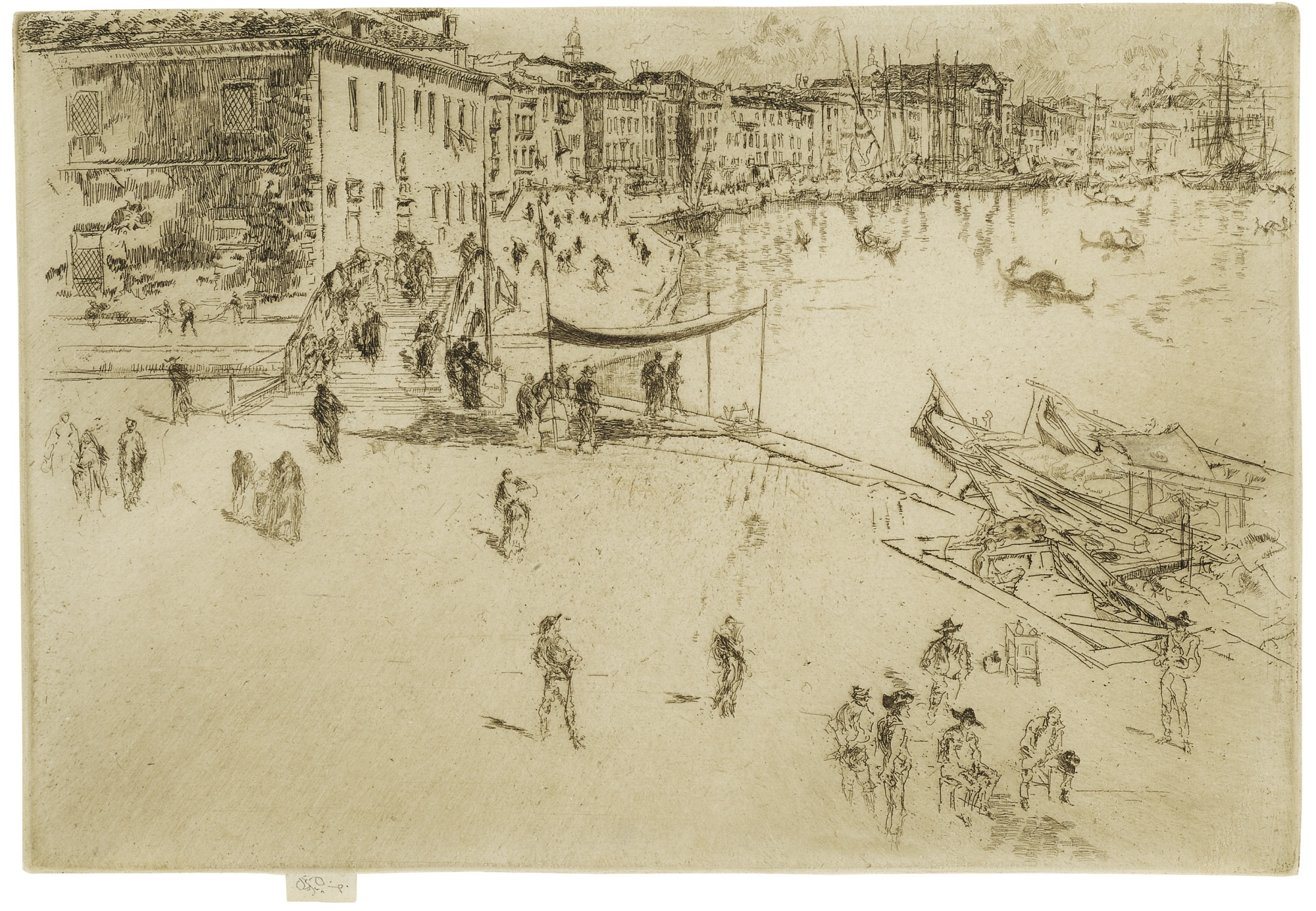 James Abbott McNeill Whistler-The Riva, No. 2 (K. 206; G. 230)-1880