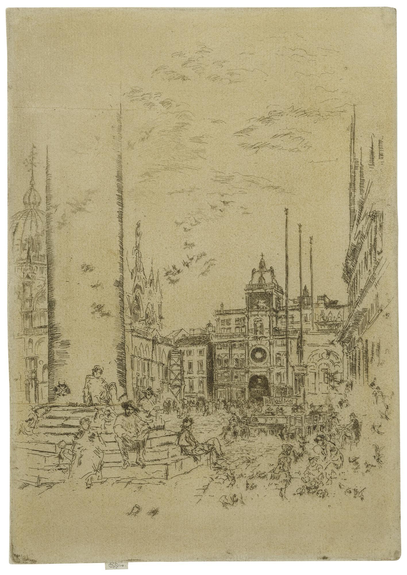 James Mcneill Whistler - The Piazzetta (K. 189; G. 218)-1880