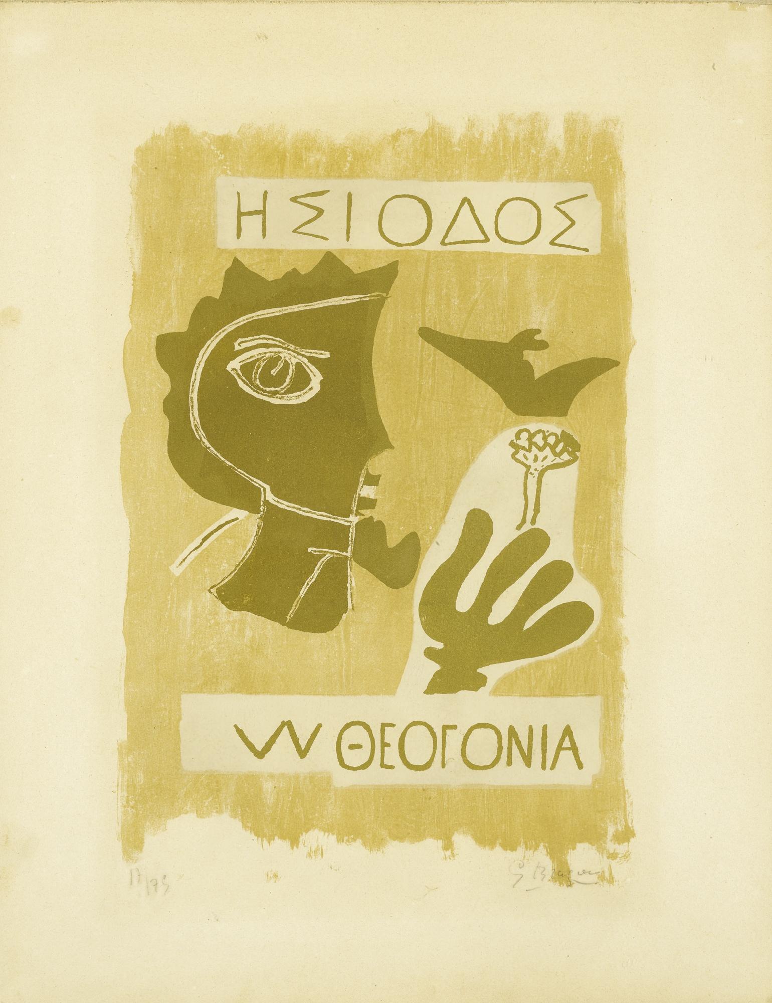 Georges Braque-Theogonie III (Vallier 90)-1954