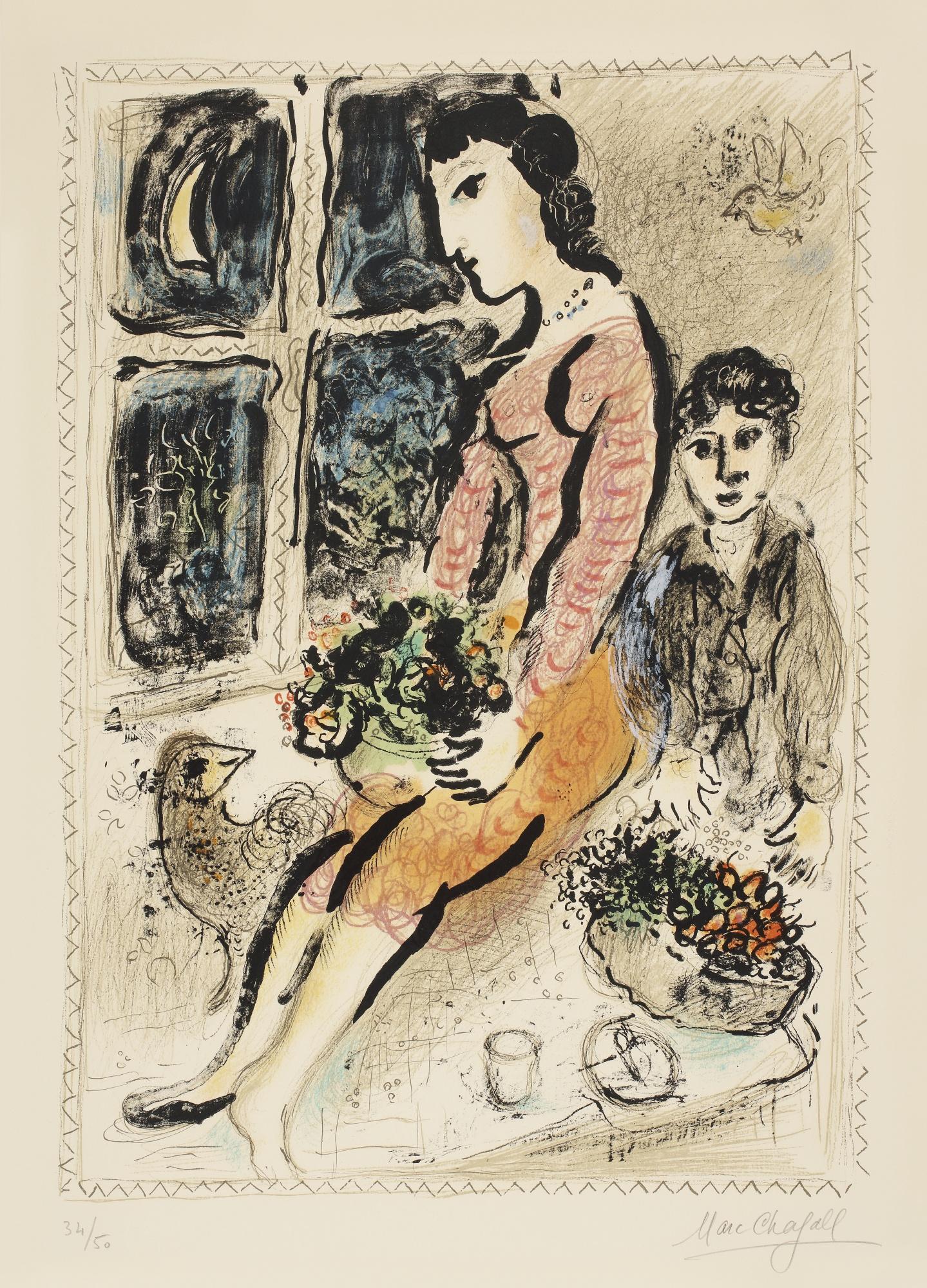 Marc Chagall-The Purple Bodice (M. 691)-1973