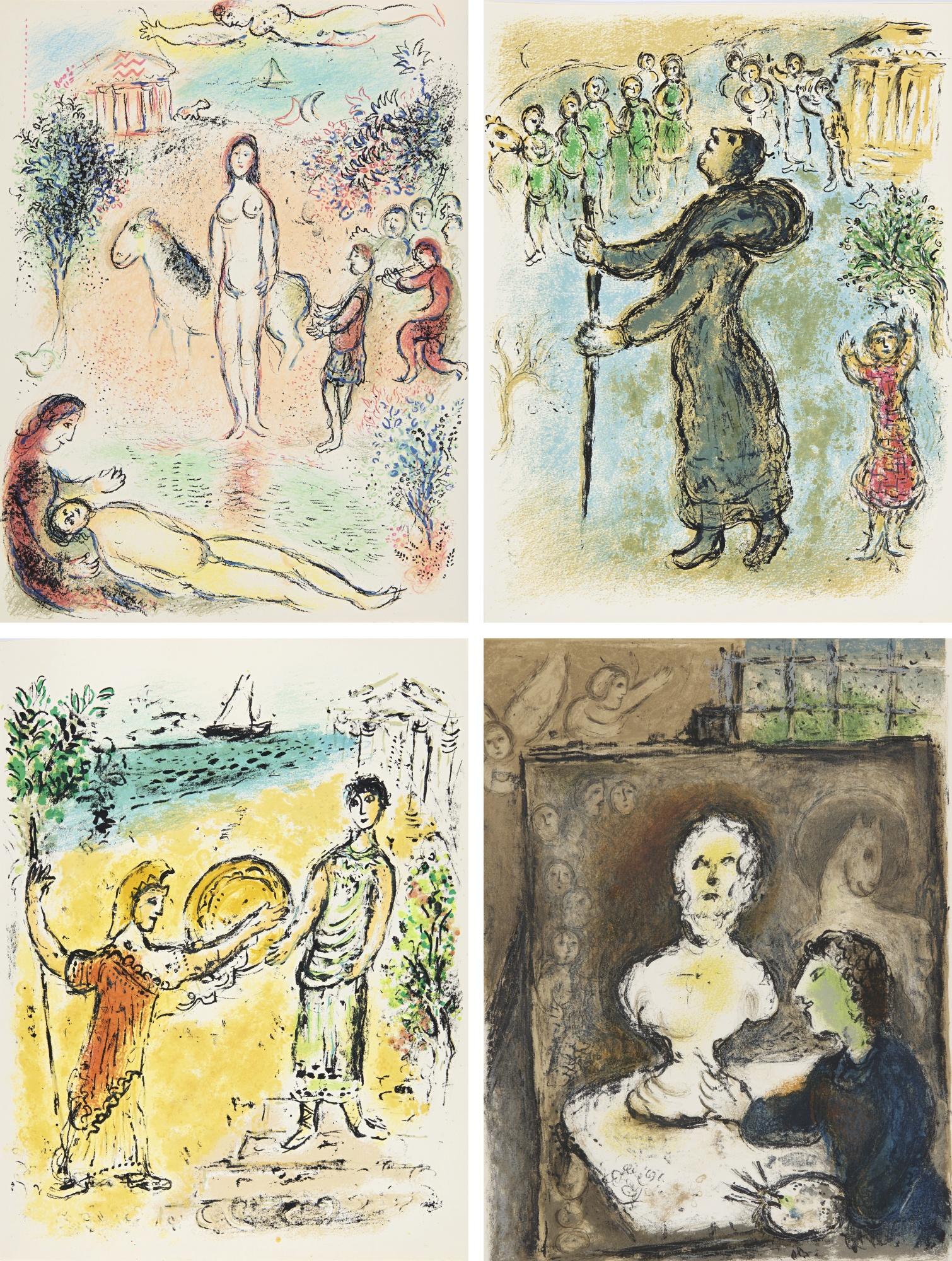 Marc Chagall-Lodyssee (M. 749-830; See Cramer Books 96)-1975