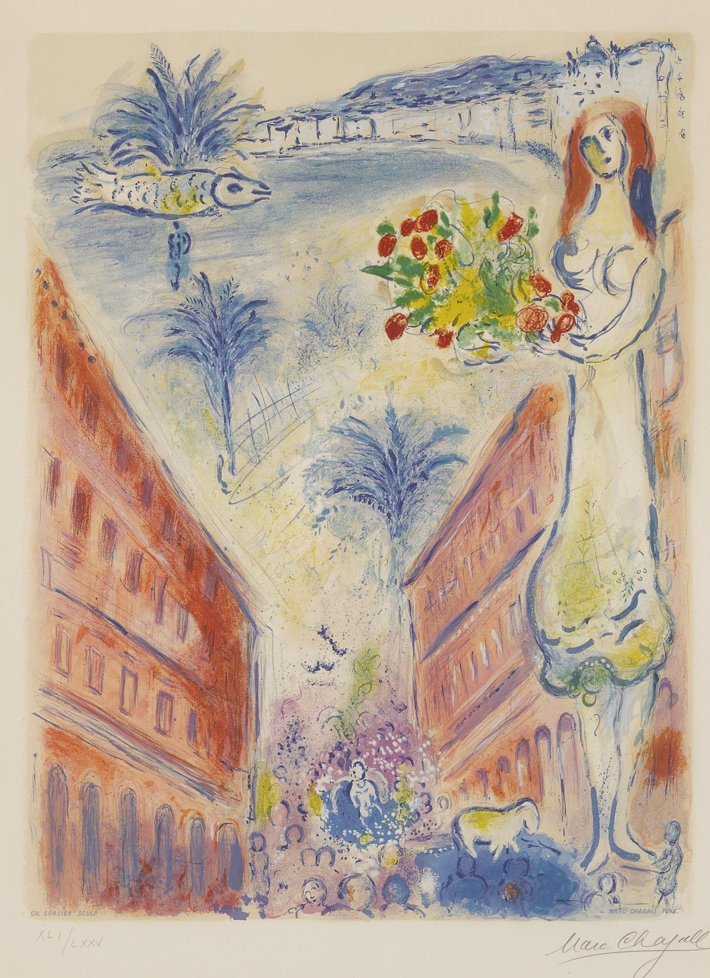 Charles Sorlier-Marc Chagall-Charles Sorlier After Marc Chagall - Avenue De La Victoire A Nice (M. Cs 31)-1967