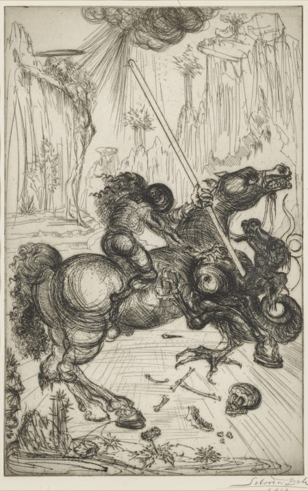 Salvador Dali-St. George And The Dragon (Field 47-1)-1947