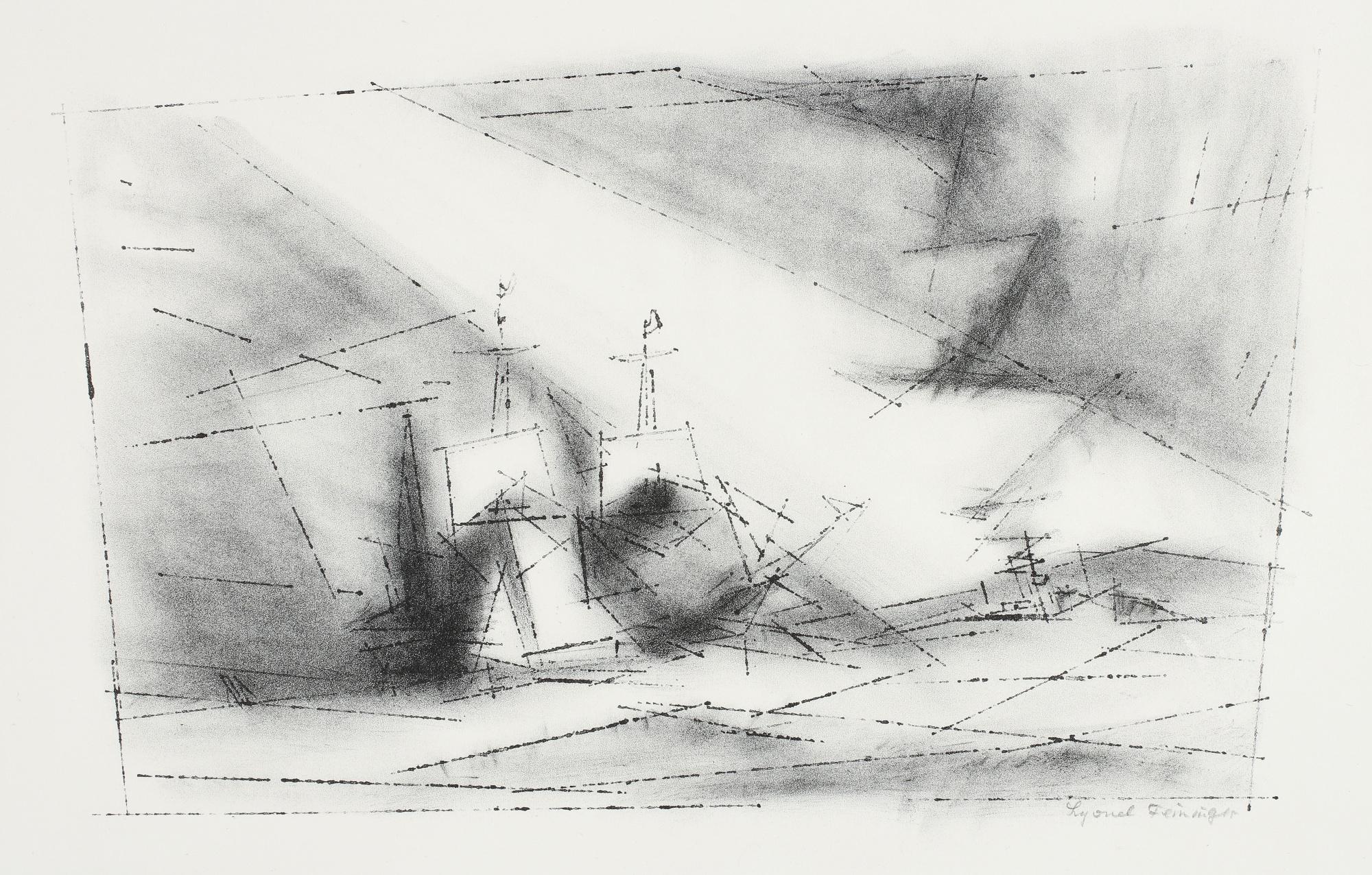 Lyonel Feininger-Off The Coast (P. L 14.II)-1951