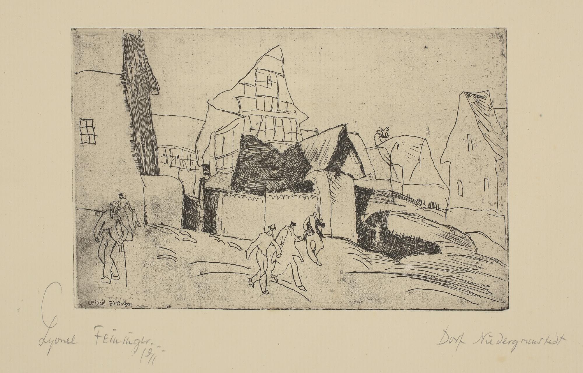 Lyonel Feininger-Niedergrunstedt (P. E 43)-1911