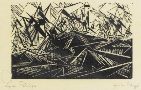 Lyonel Feininger-Hansa Schiffe (Hanseatic Ships) (P. W 162)-1940