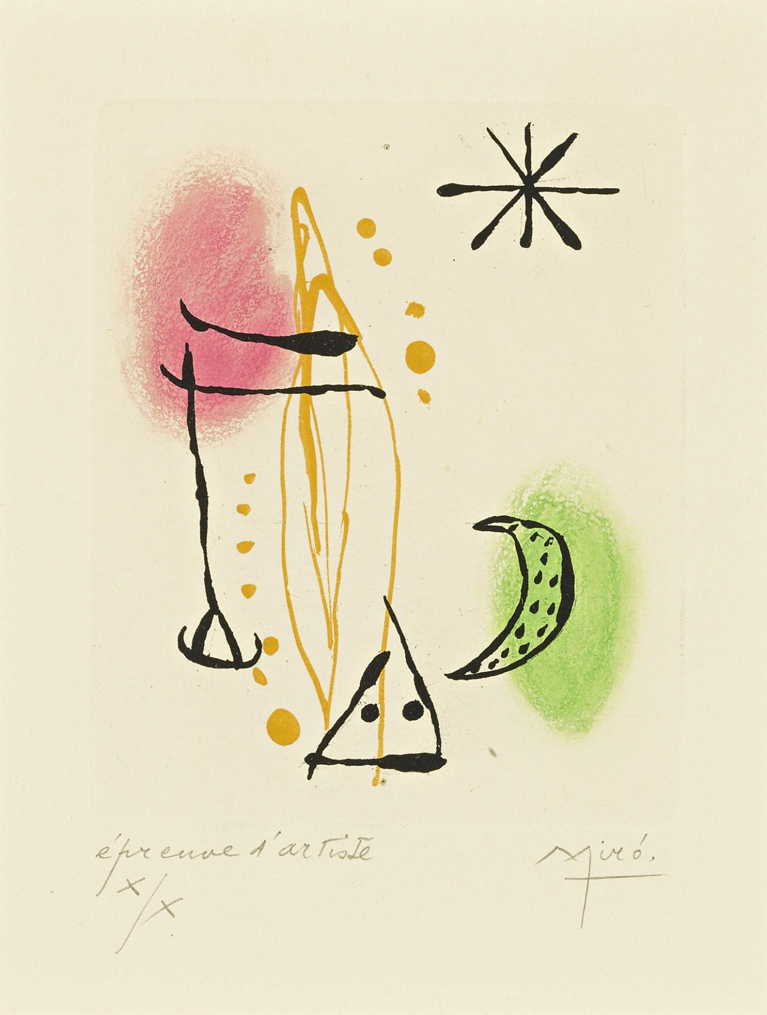 Joan Miro-La Bague Daurore (D. 124; See C. Bks. 45)-1957