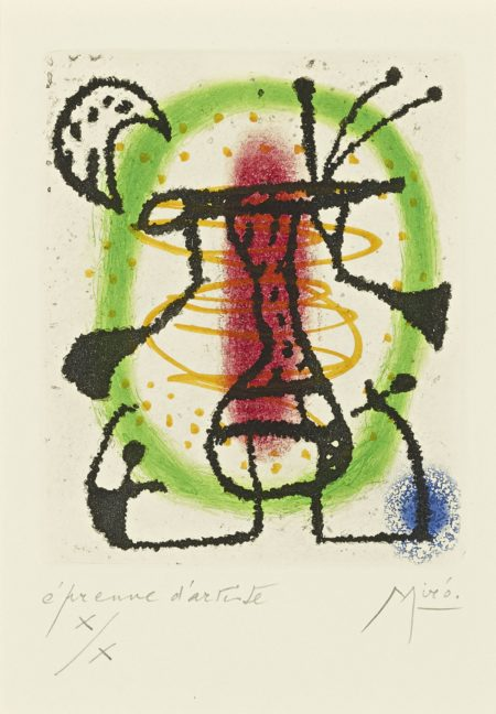 Joan Miro-La Bague Daurore (D. 136; See C. Bks. 45)-1957