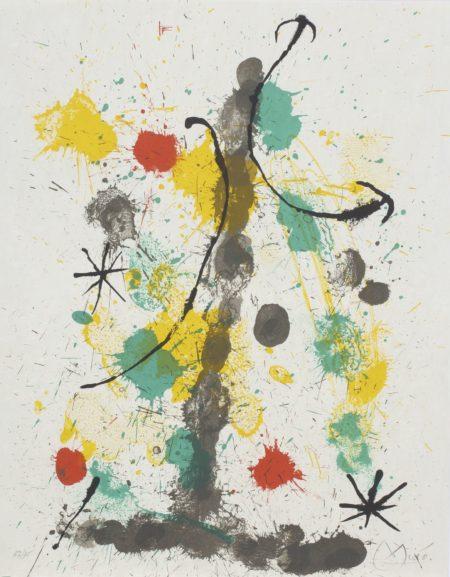 Joan Miro-Quelques Fleurs Pour Des Amis (M. 406-410; See C. Bks. 92)-1964