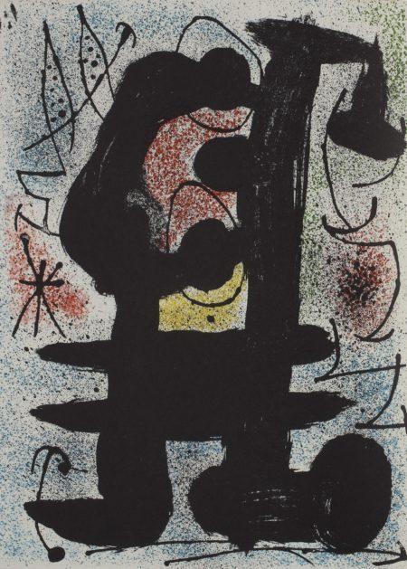 Joan Miro-Derriere Le Miroir. Miro. Loiseau Solaire - Loiseau Lunaire - Etincelles (C. Bks. 112)-1967