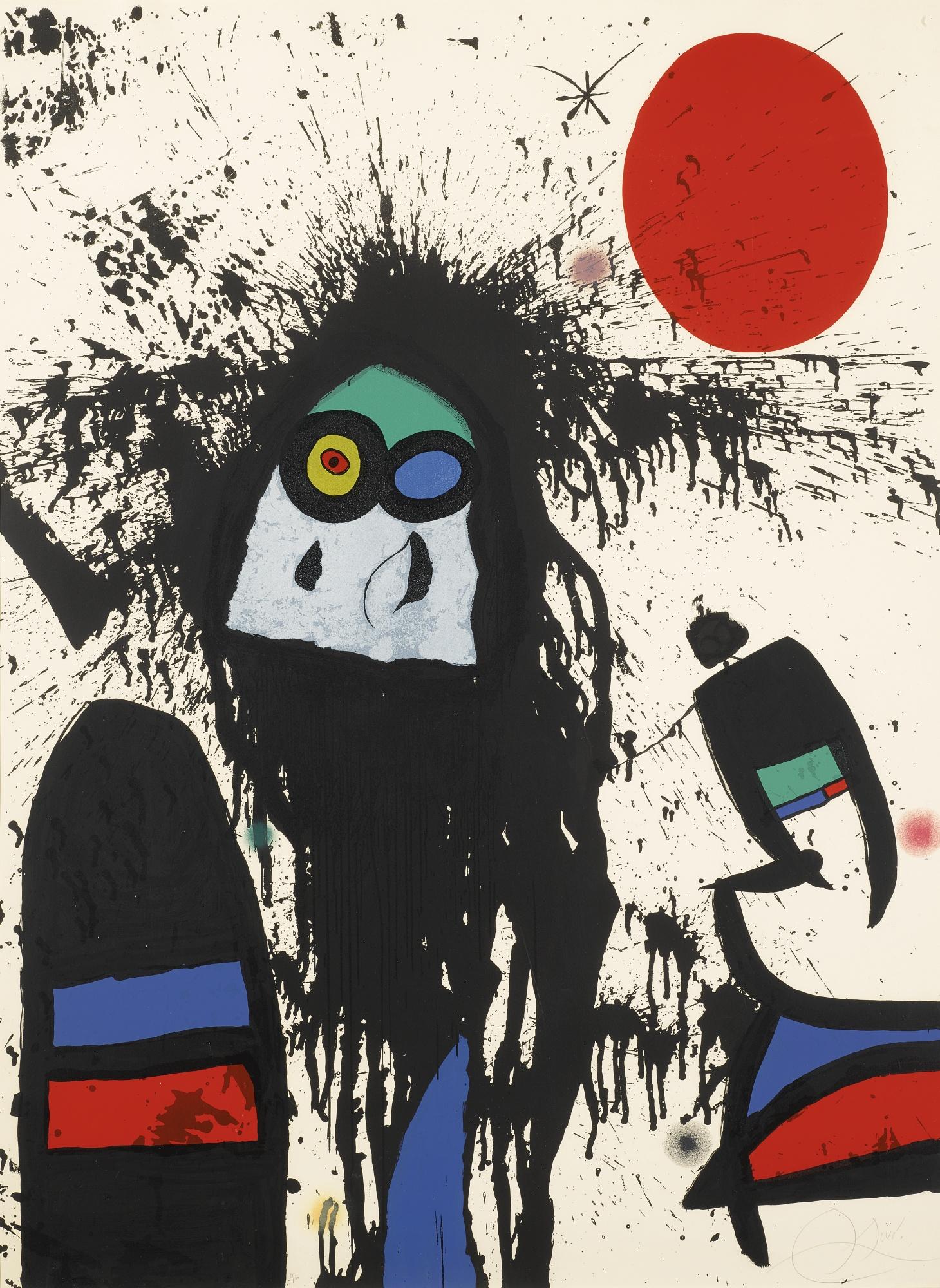 Joan Miro-La Ruisselante Solaire (M. 1102)-1976