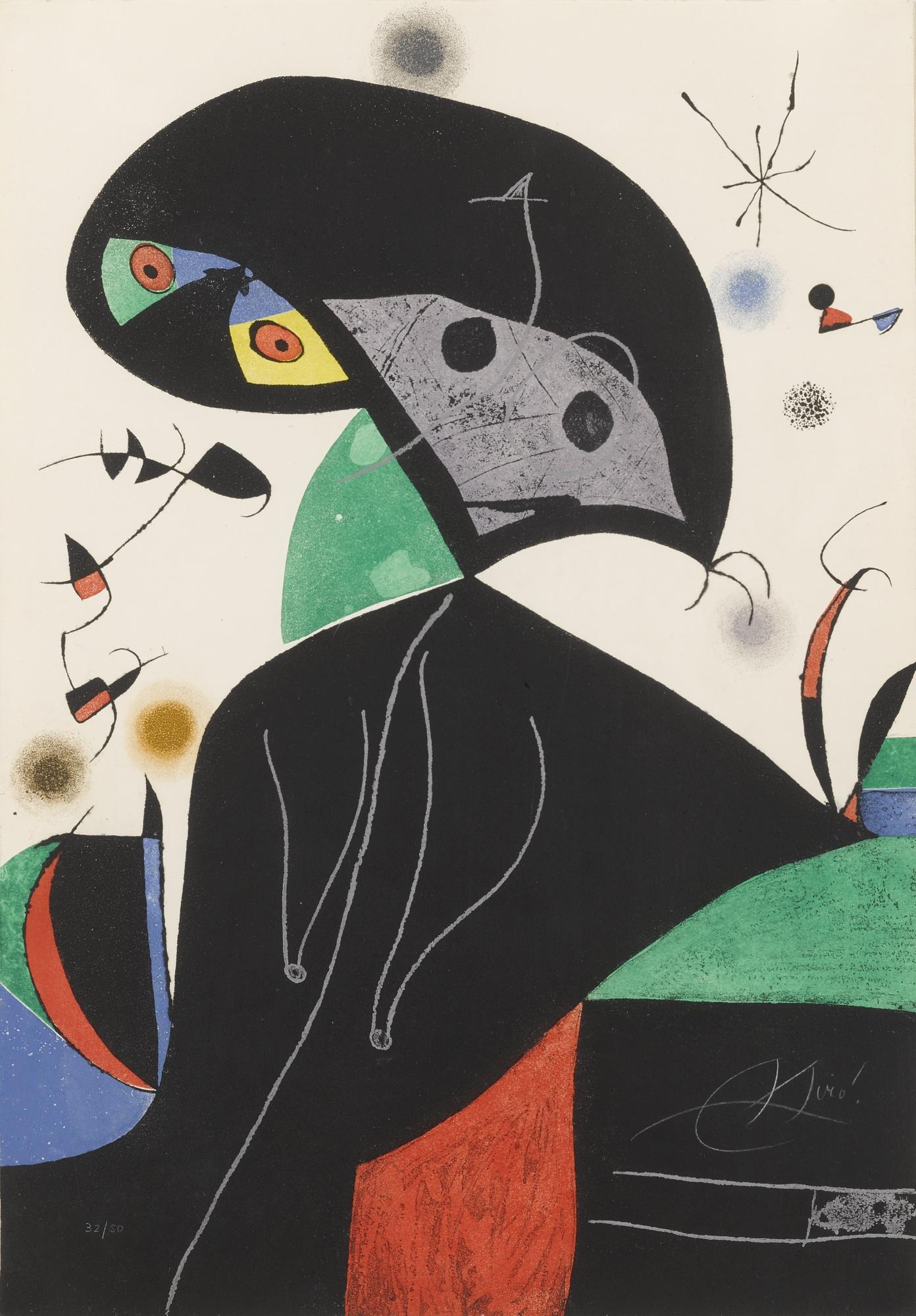 Joan Miro-Gaudi XvIII (D. 1077)-1979