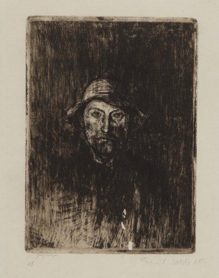 Emil Nolde-Der Maler (Selbstbildnis) (Schiefler And Mosel 6)-1906