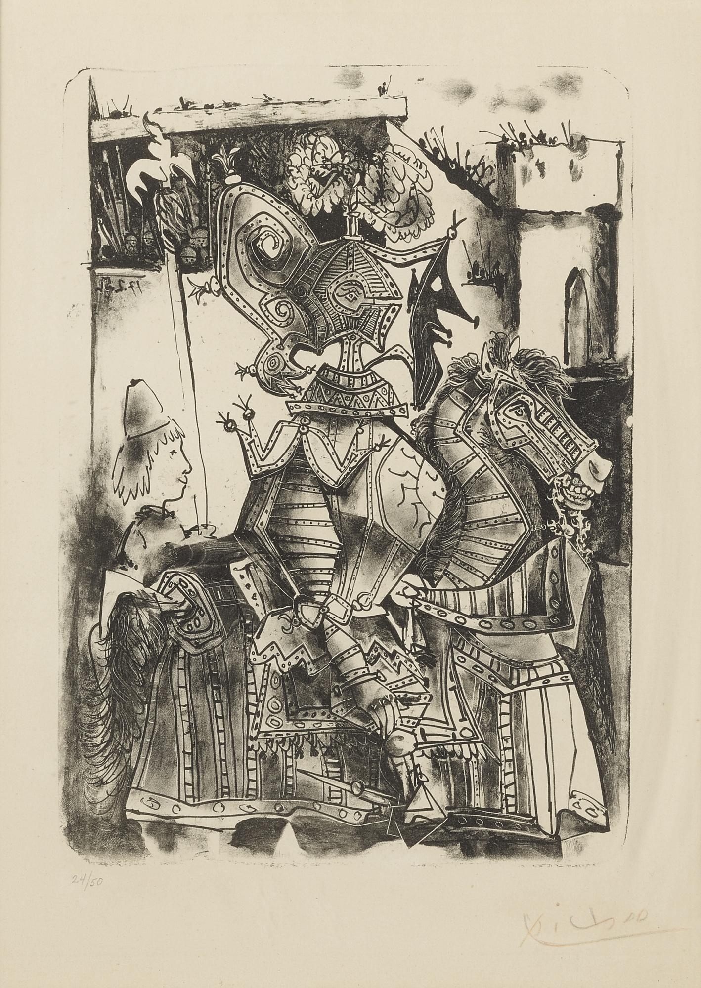 Pablo Picasso-Le Chevalier Et La Page (B. 684; M. 200)-1951