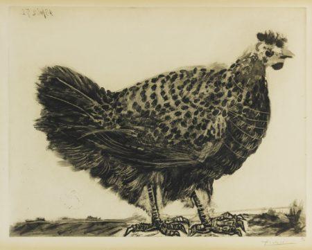 Pablo Picasso-La Poule (B. 694; Ba. 896)-1952