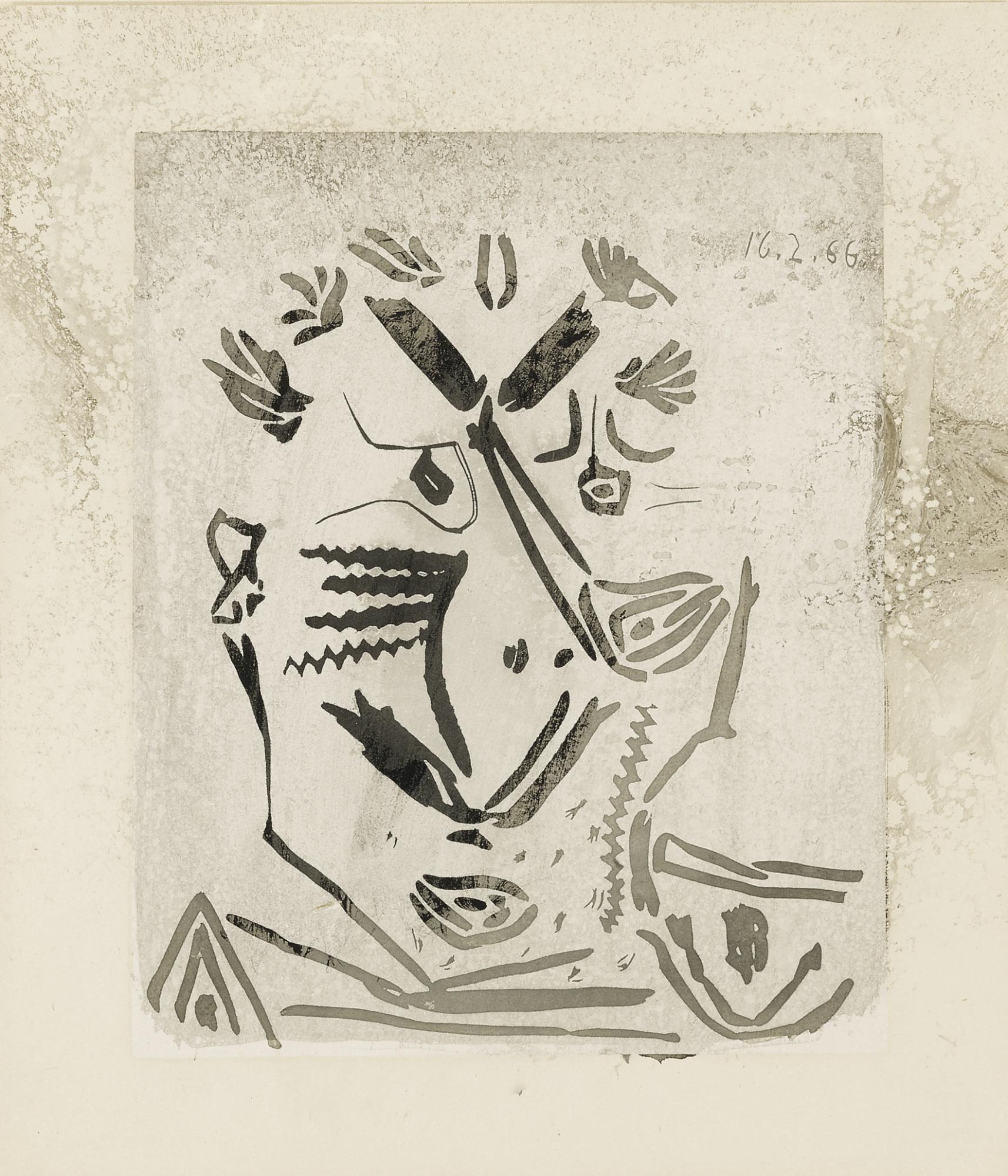 Pablo Picasso-Portrait Dhomme (Notre Dame De Vie) (B. 1230; Ba. 1848)-1966
