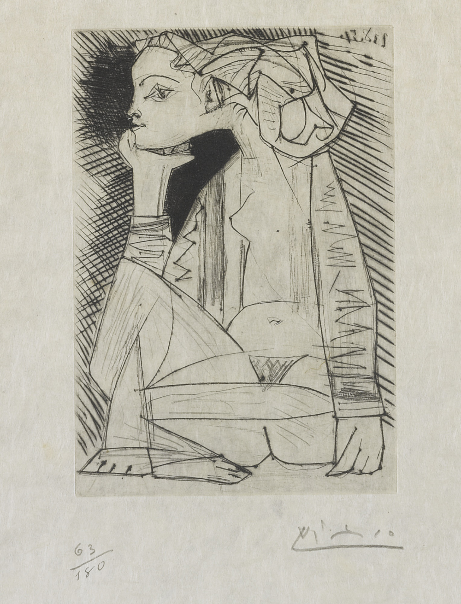 Pablo Picasso-Femme Assise En Tailleur: Genevieve Laporte (B. 1837; Ba. 888)-1951
