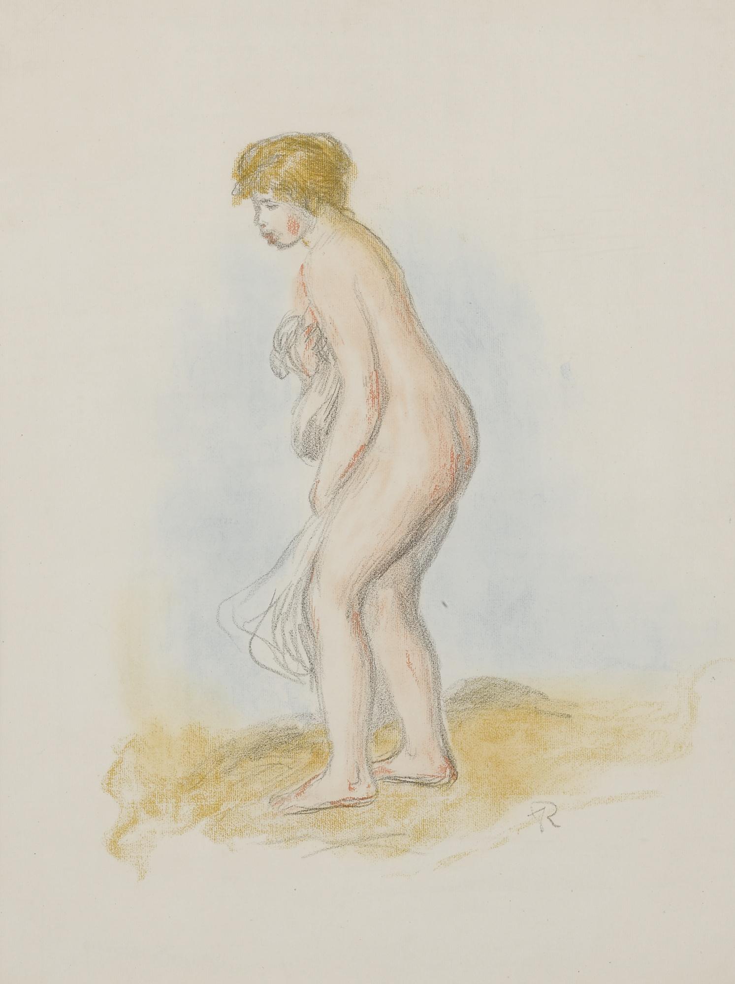 Pierre-Auguste Renoir-Baigneuse Debout, En Pied (Delteil 28; Stella 28)-1896