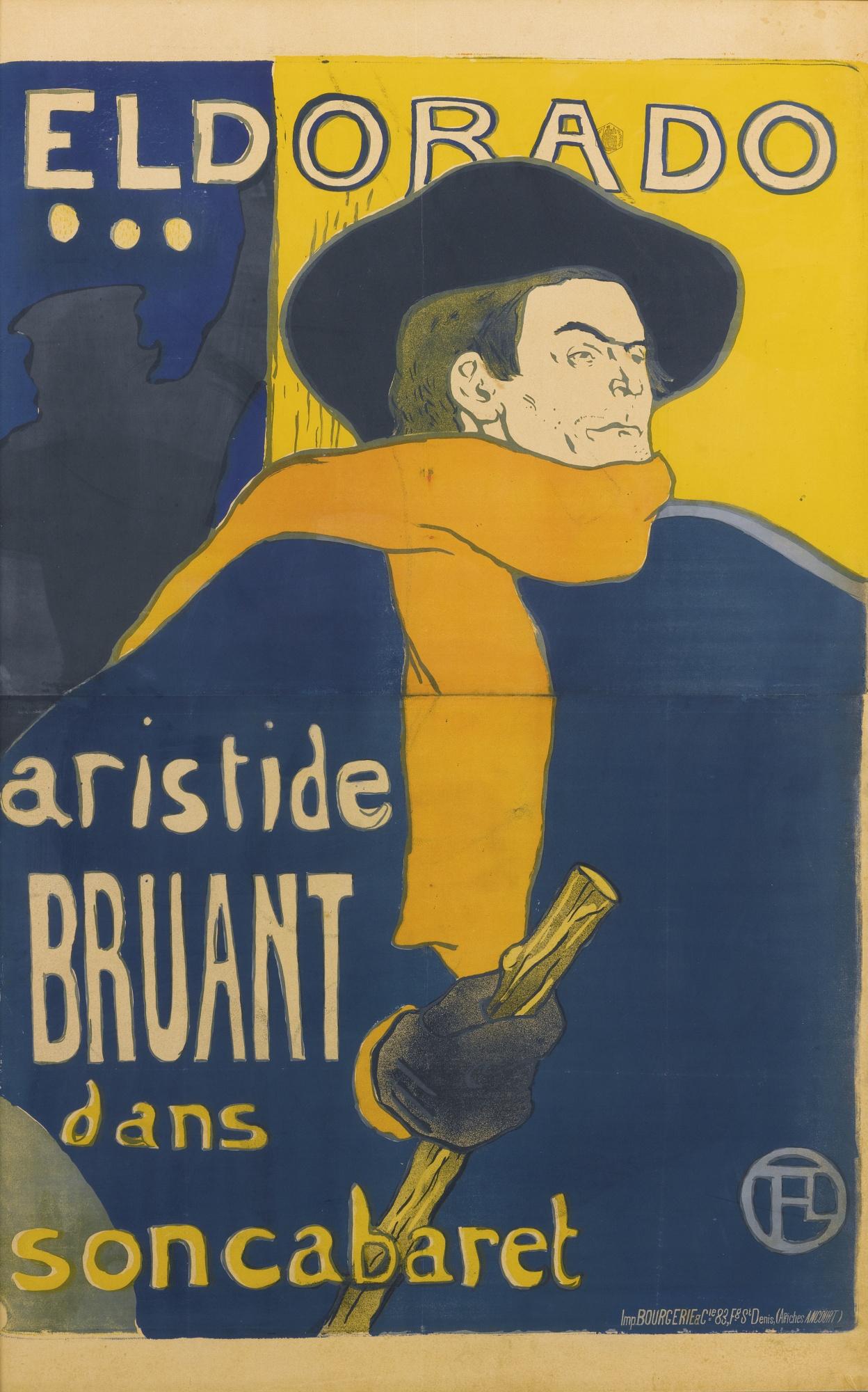 Henri de Toulouse-Lautrec-Eldorado: Aristide Bruant (D. 344; Adr. 4; W. P5)-1892